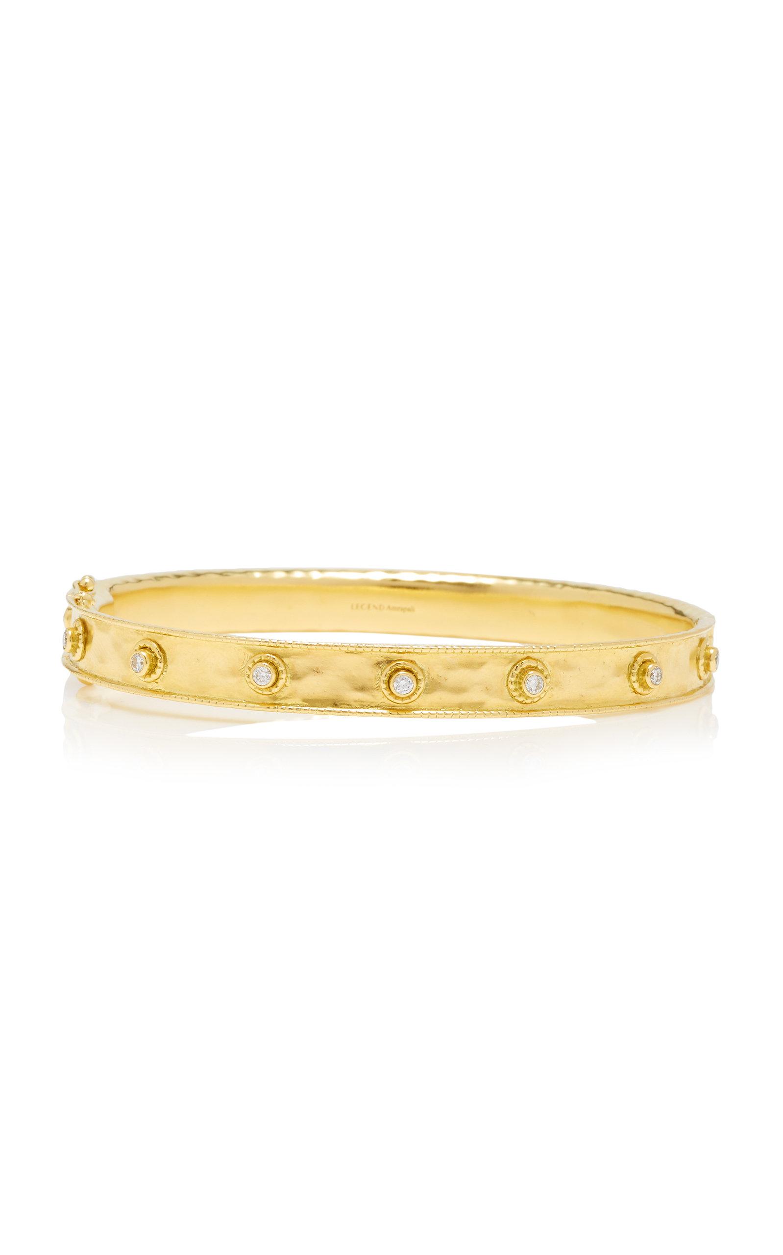 Women's Revati 18K Gold and Diamond Bangle