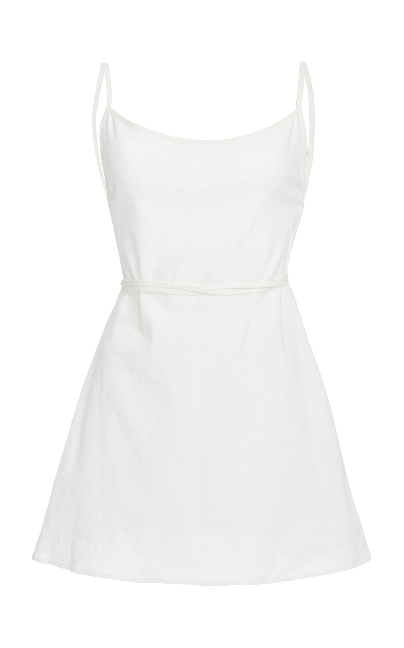 Buy Anemone Back-Tied Linen and Cotton Mini Dress online, shop Anemone at the best price