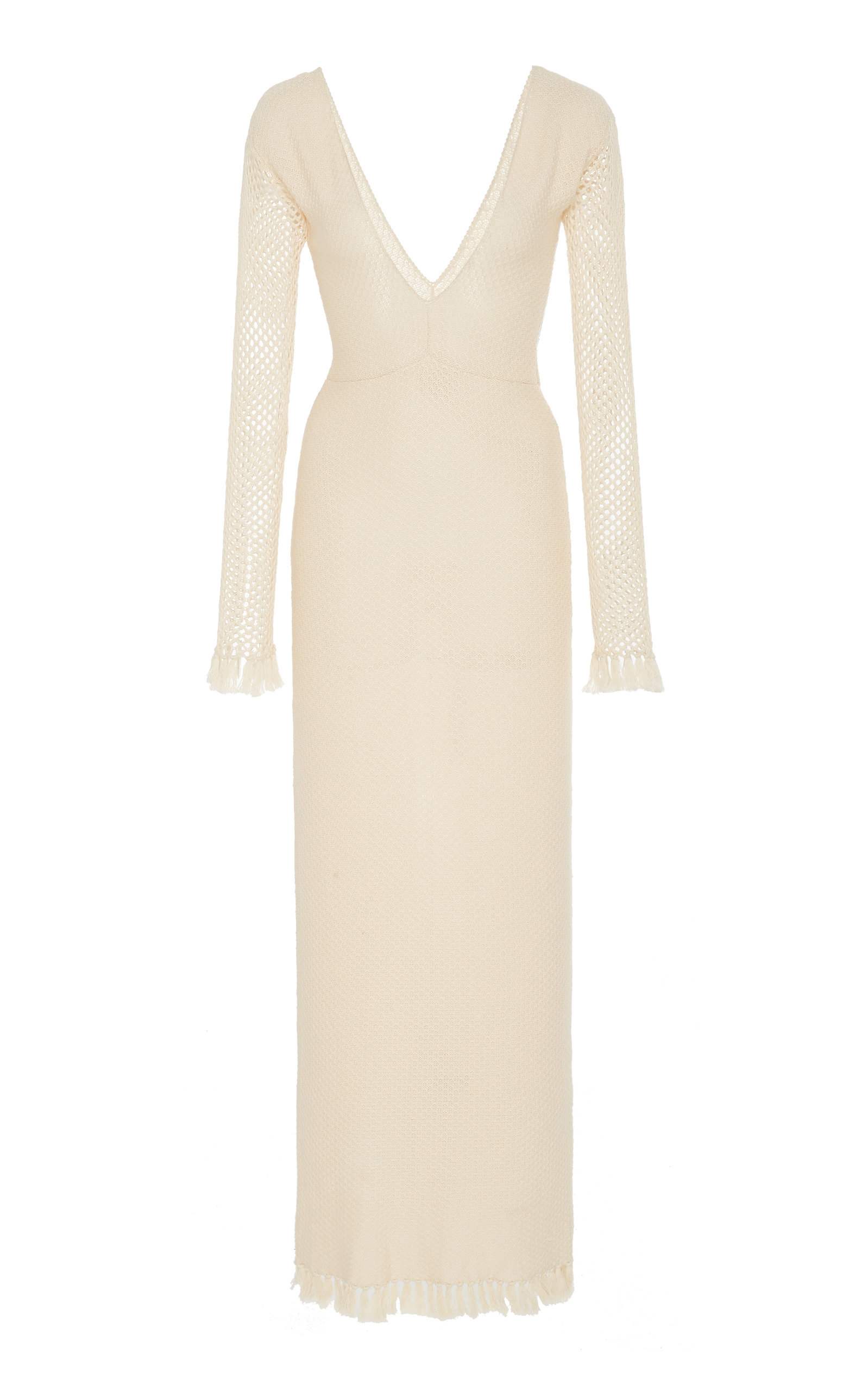Buy Escvdo Palma Sheer Long Sleeve Knit Midi Dress online, shop Escvdo at the best price