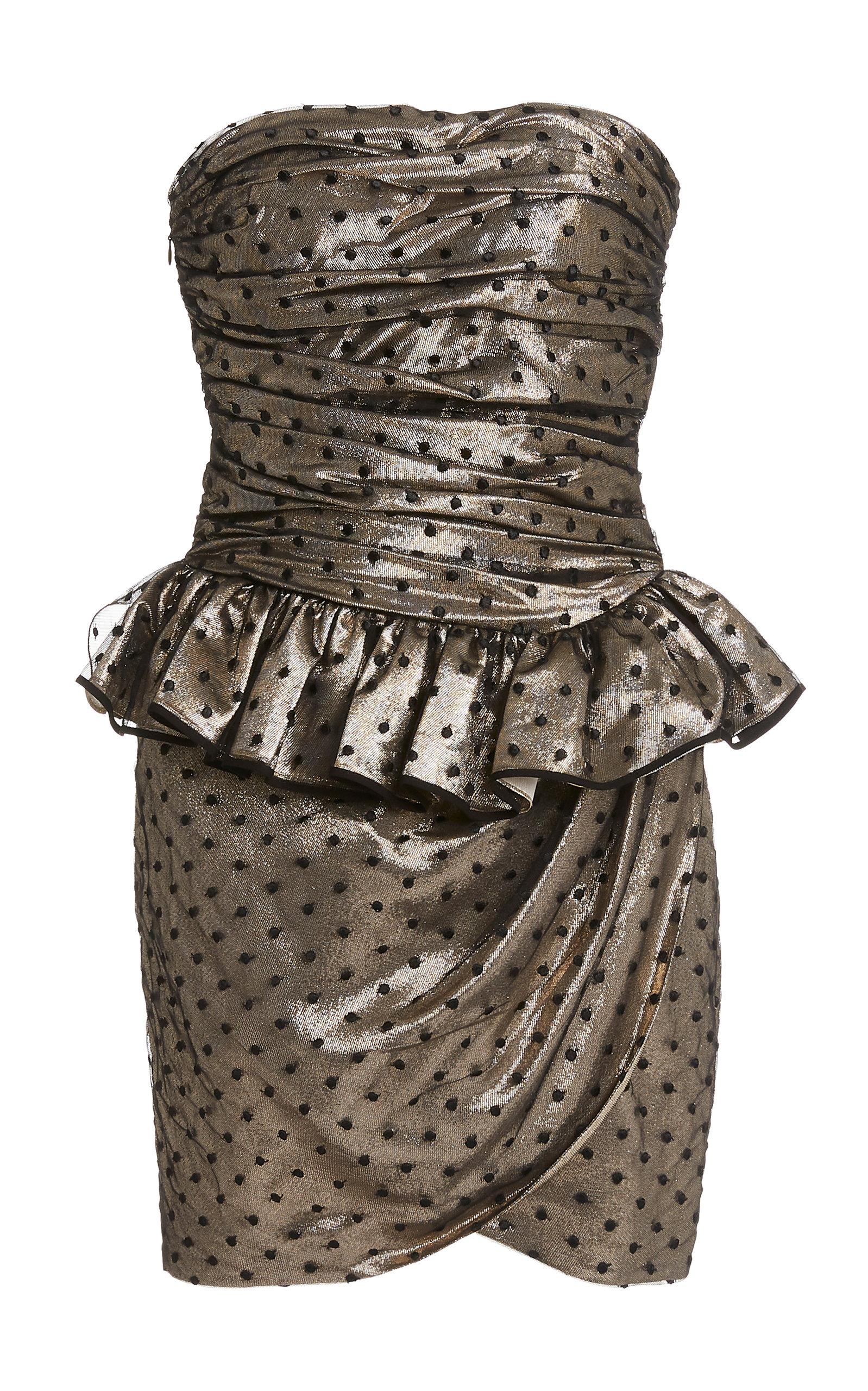Buy Dundas Polka Dot Peplum Silk-Blend Mini Dress online, shop Dundas at the best price