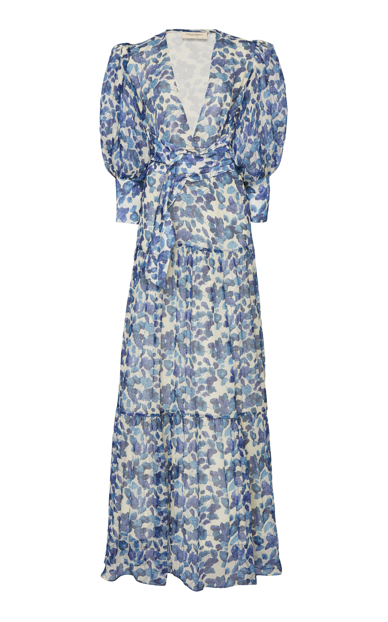 Buy Adriana Degreas Floral-Print Silk-Chiffon Maxi Dress online, shop Adriana Degreas at the best price