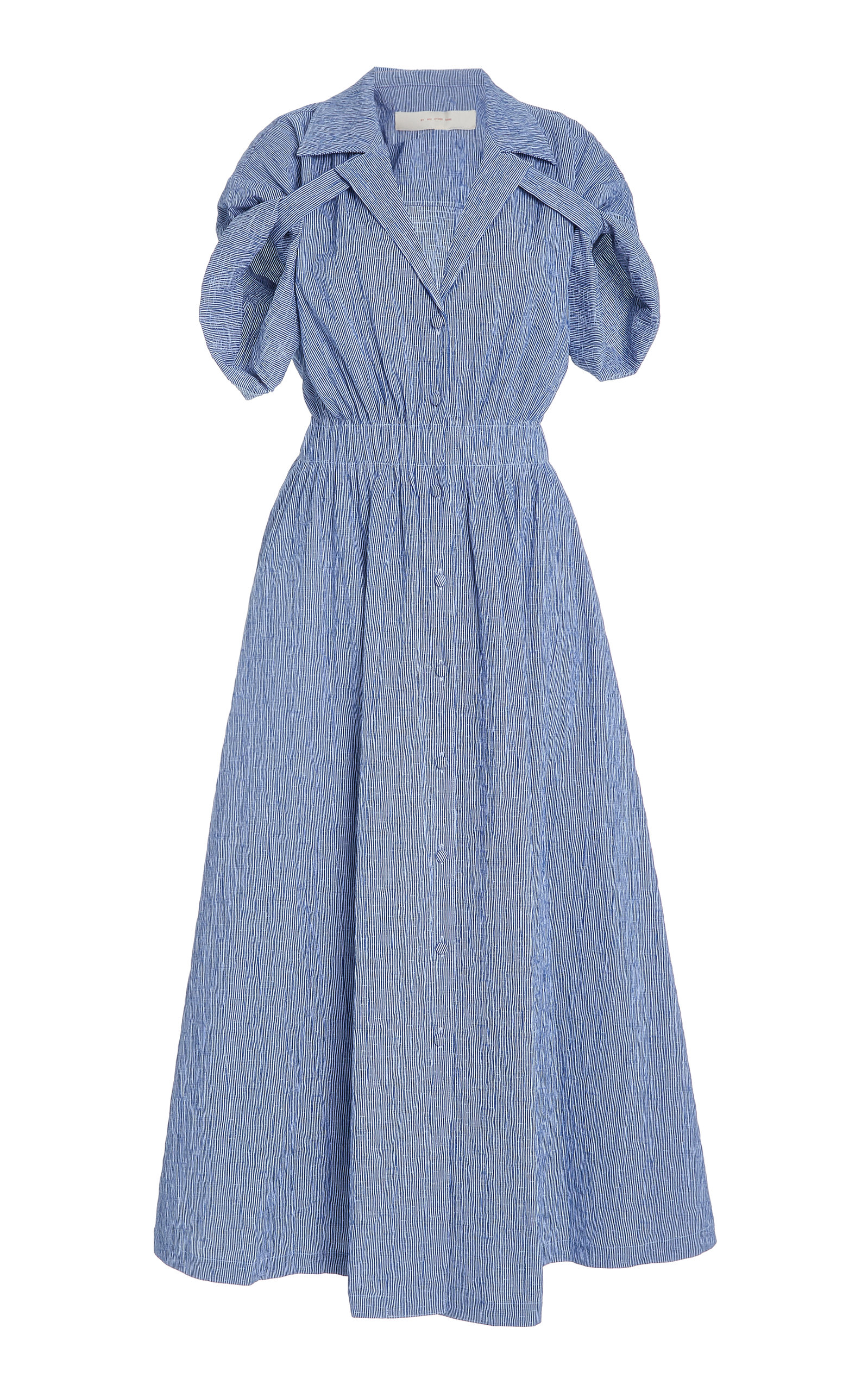 Buy By Any Other Name Shirred Cotton-Blend Gauze Midi Dress online, shop By Any Other Name at the best price