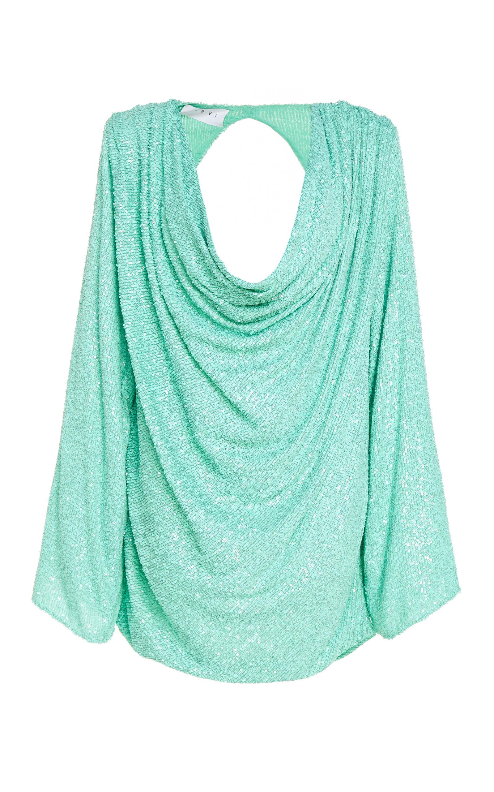 Buy Nervi Carol Draped Printed Stretch-Jersey Mini Dress online, shop Nervi at the best price