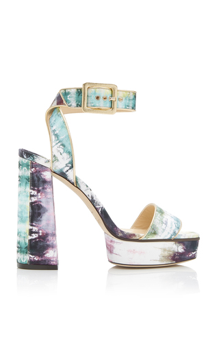 Jax Tie-Dye Leather Platform Sandals by Jimmy Choo | Moda