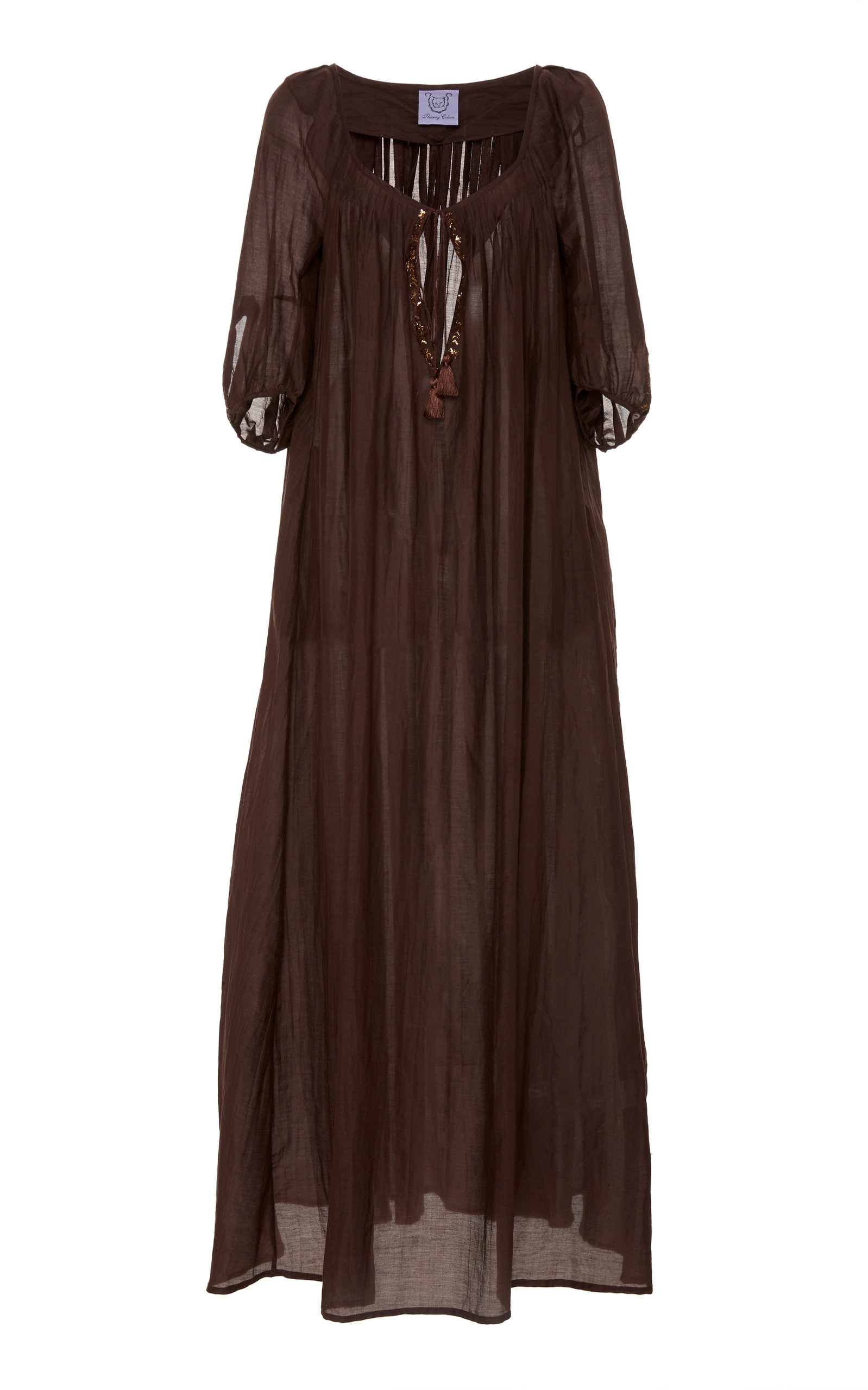 Buy Thierry Colson Eva Cotton-Blend Maxi Dress online, shop Thierry Colson at the best price
