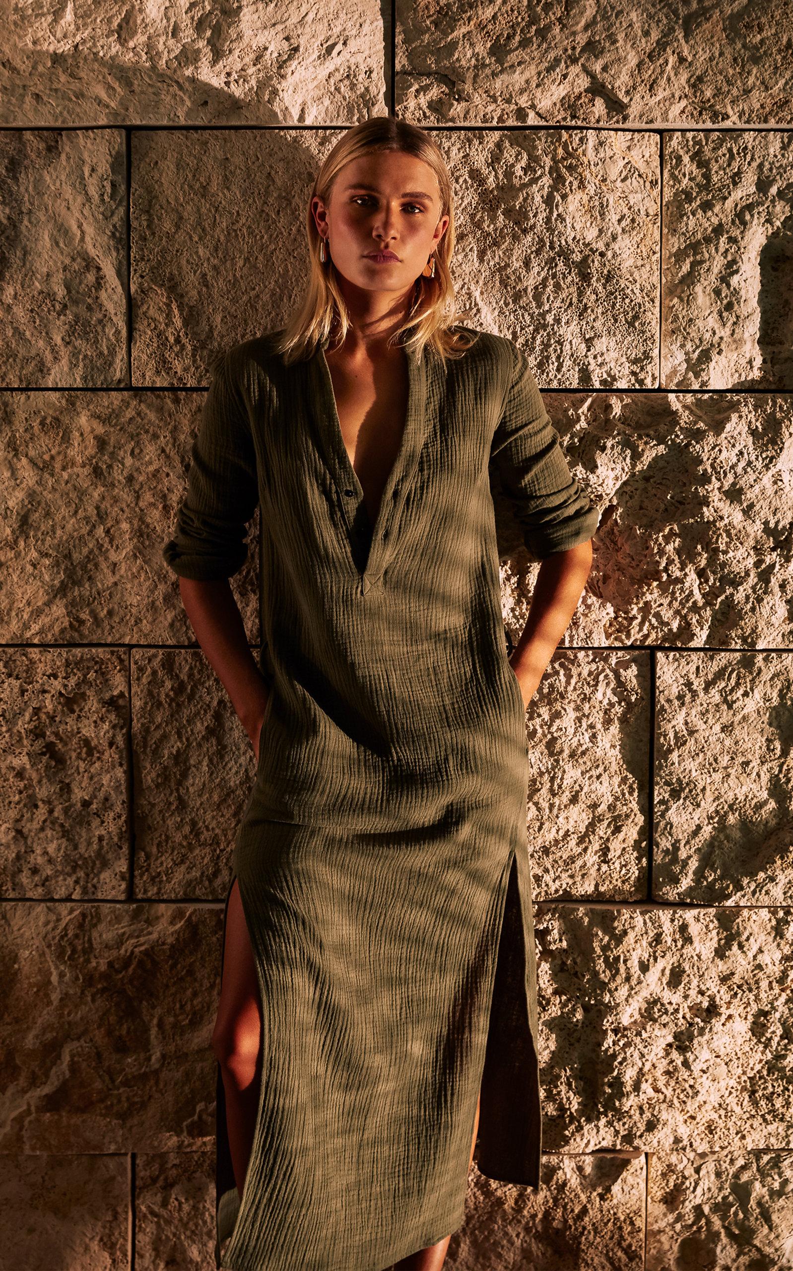 Buy Bird & Knoll Frieda Cotton Shirtdress online, shop Bird & Knoll at the best price