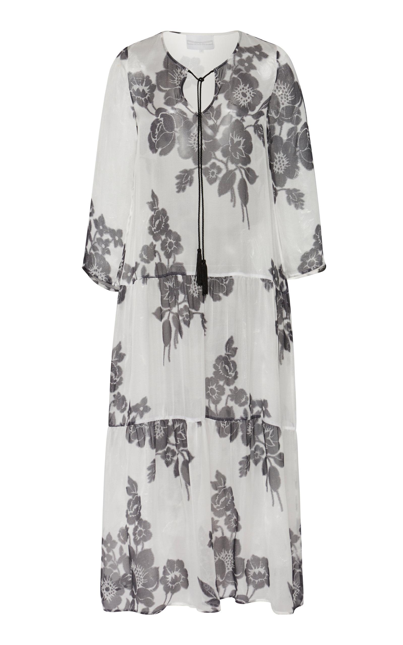Buy Marie France Van Damme Printed Silk Maxi Dress online, shop Marie France Van Damme at the best price