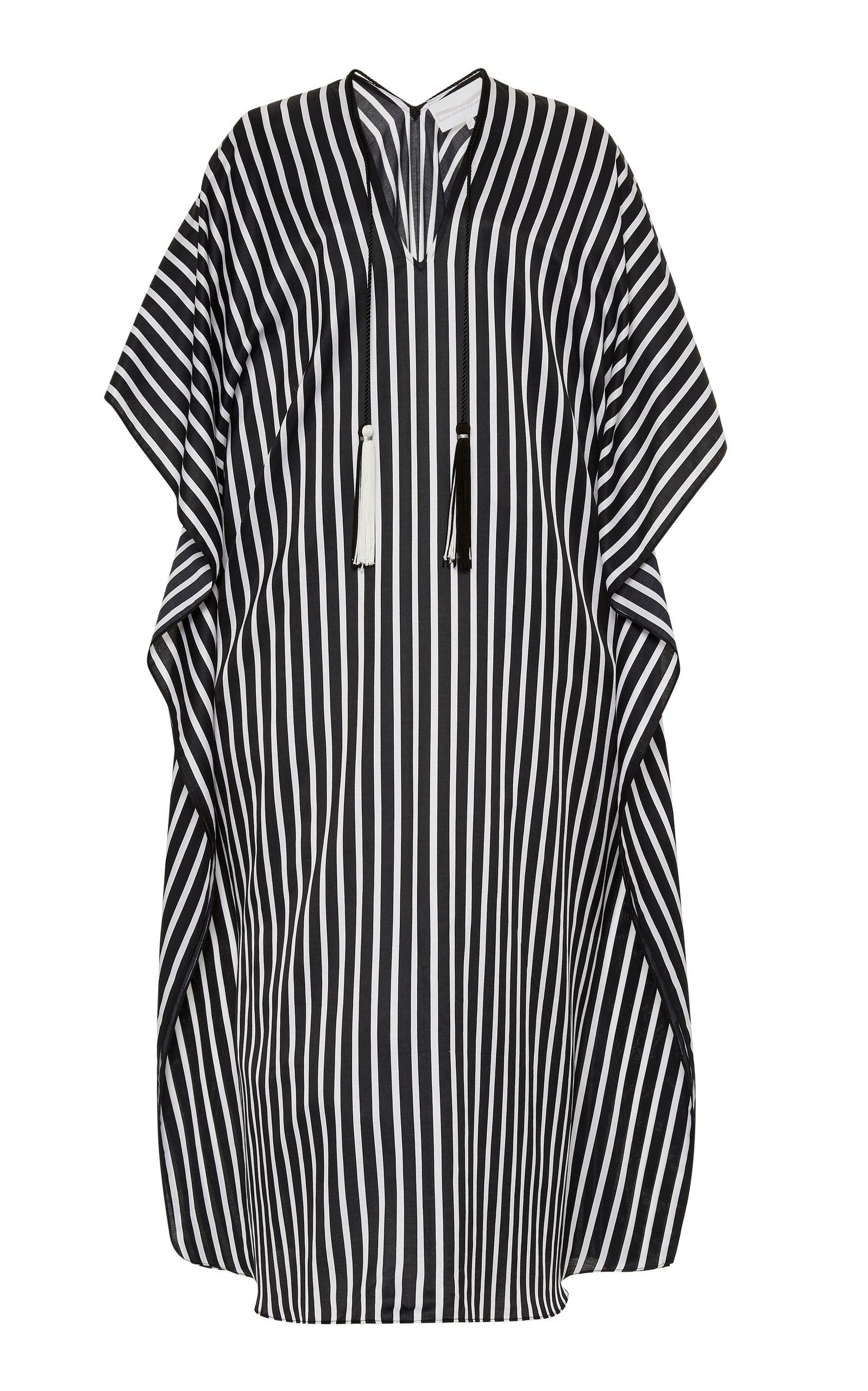 Buy Marie France Van Damme Striped Cotton-Silk Boubou online, shop Marie France Van Damme at the best price