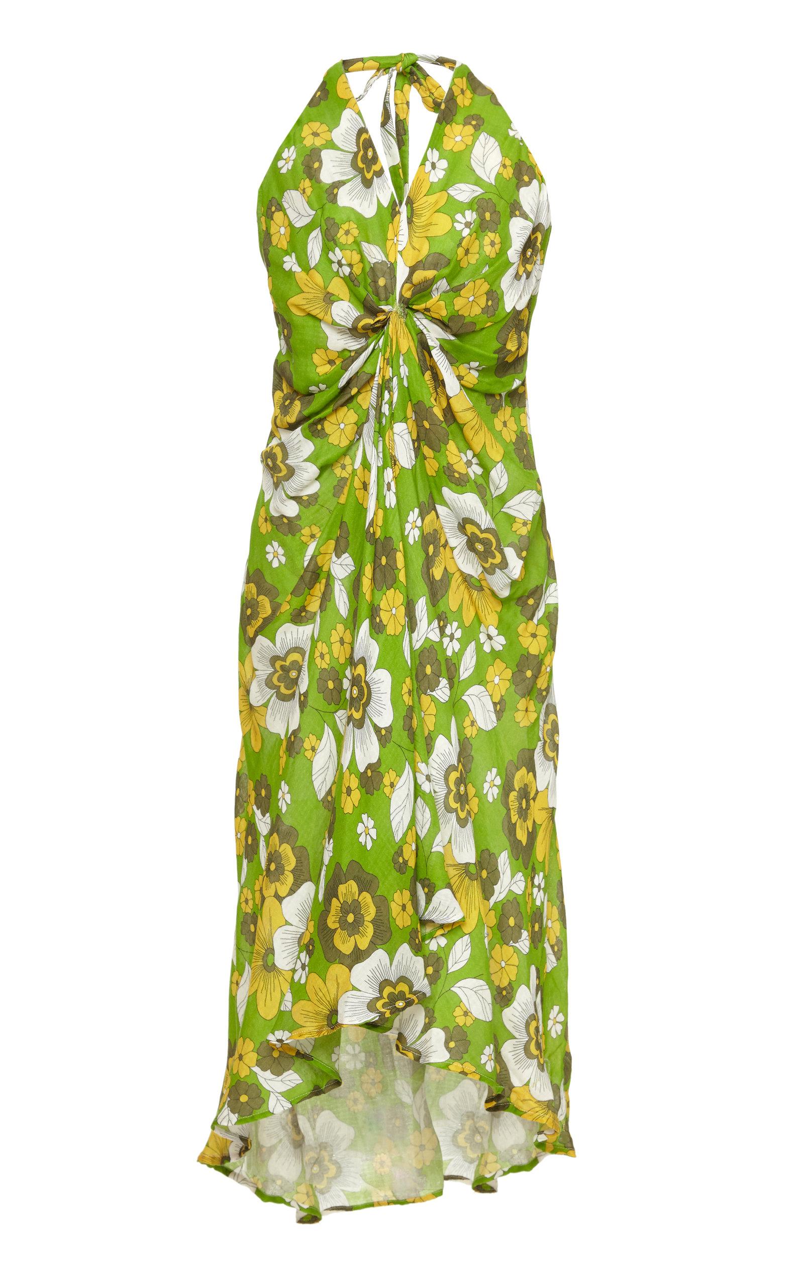Buy DoDo Bar Or Jennifer Floral-Print Cotton-Voile Midi Dress online, shop DoDo Bar Or at the best price