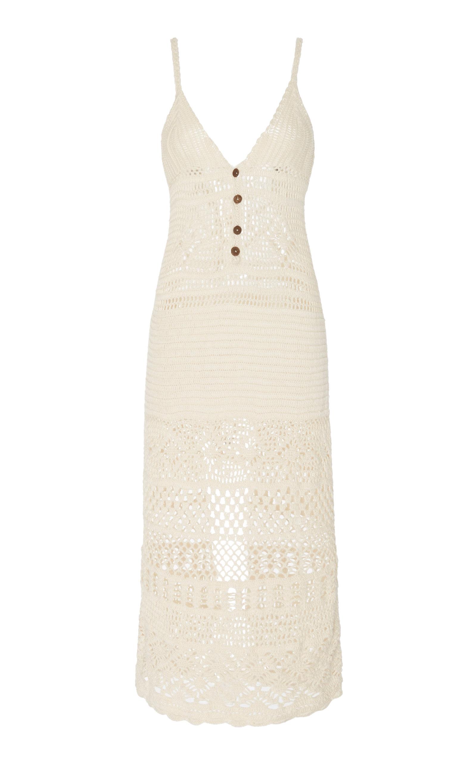 Women's Esme Crocheted Cotton Midi Dress