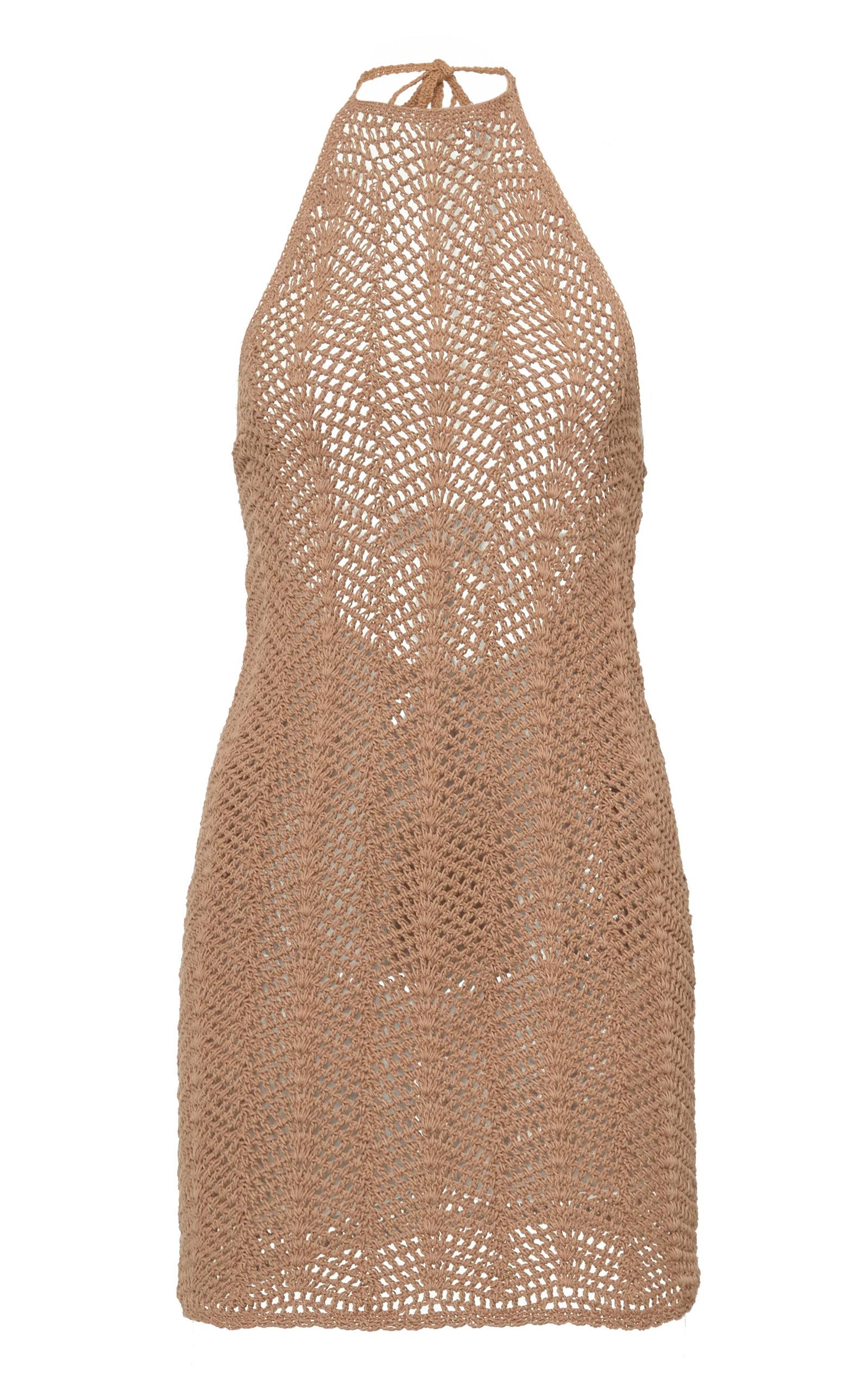 Buy Akoia Swim Noelie Crocheted Cotton Halterneck Mini Dress online, shop Akoia Swim at the best price