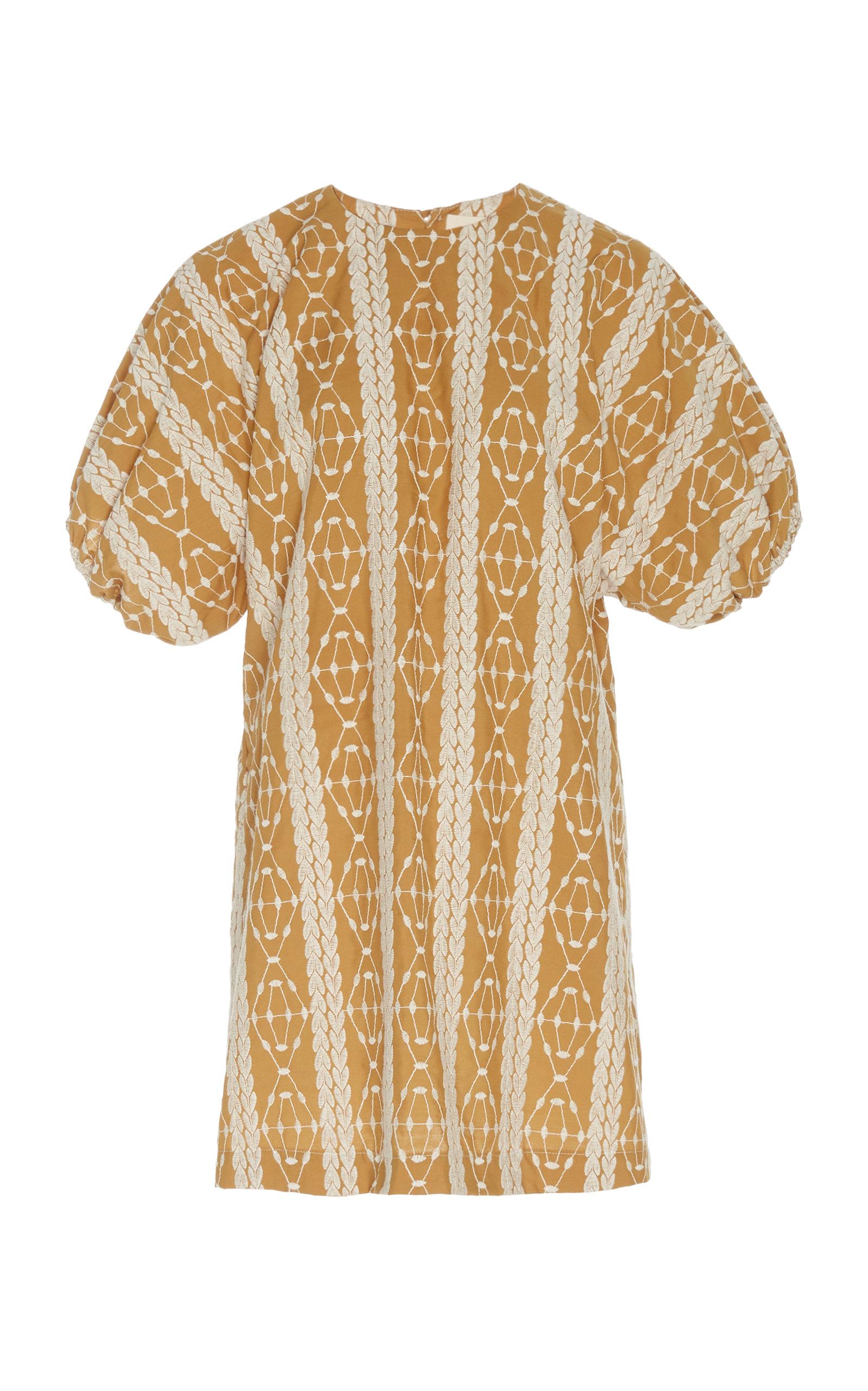 Buy Matin Geometric-Pattern Cotton Mini Dress online, shop Matin at the best price