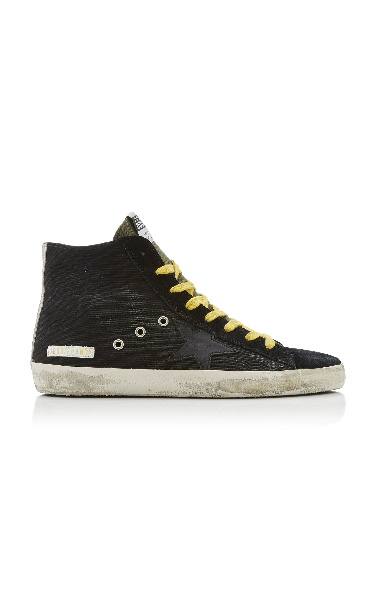 Golden Goose Suedes FRANCY DISTRESSED SUEDE AND RUBBER SNEAKERS