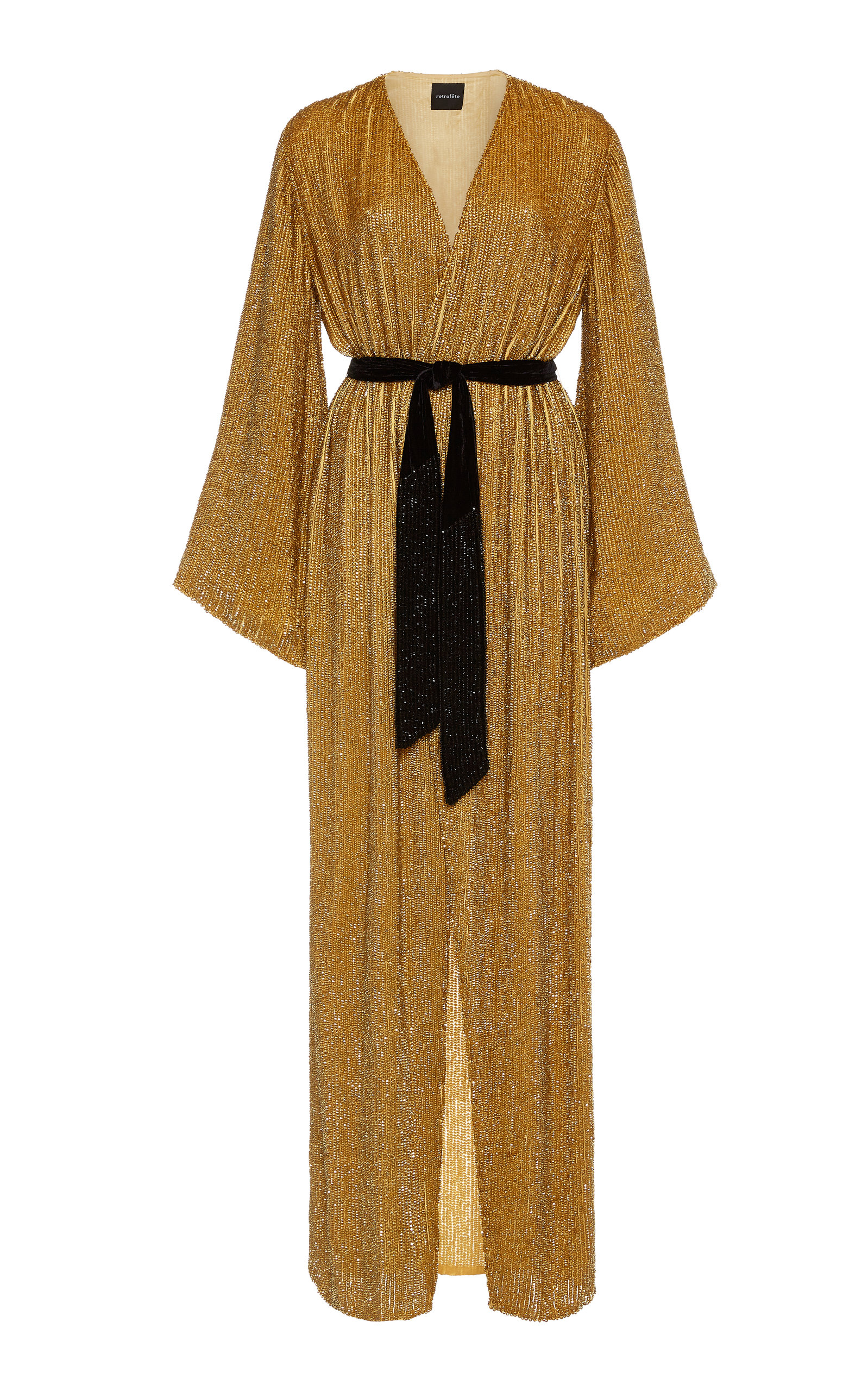 Buy Retrofête Janet Belted Sequined Chiffon Maxi Dress online, shop Retrofête at the best price