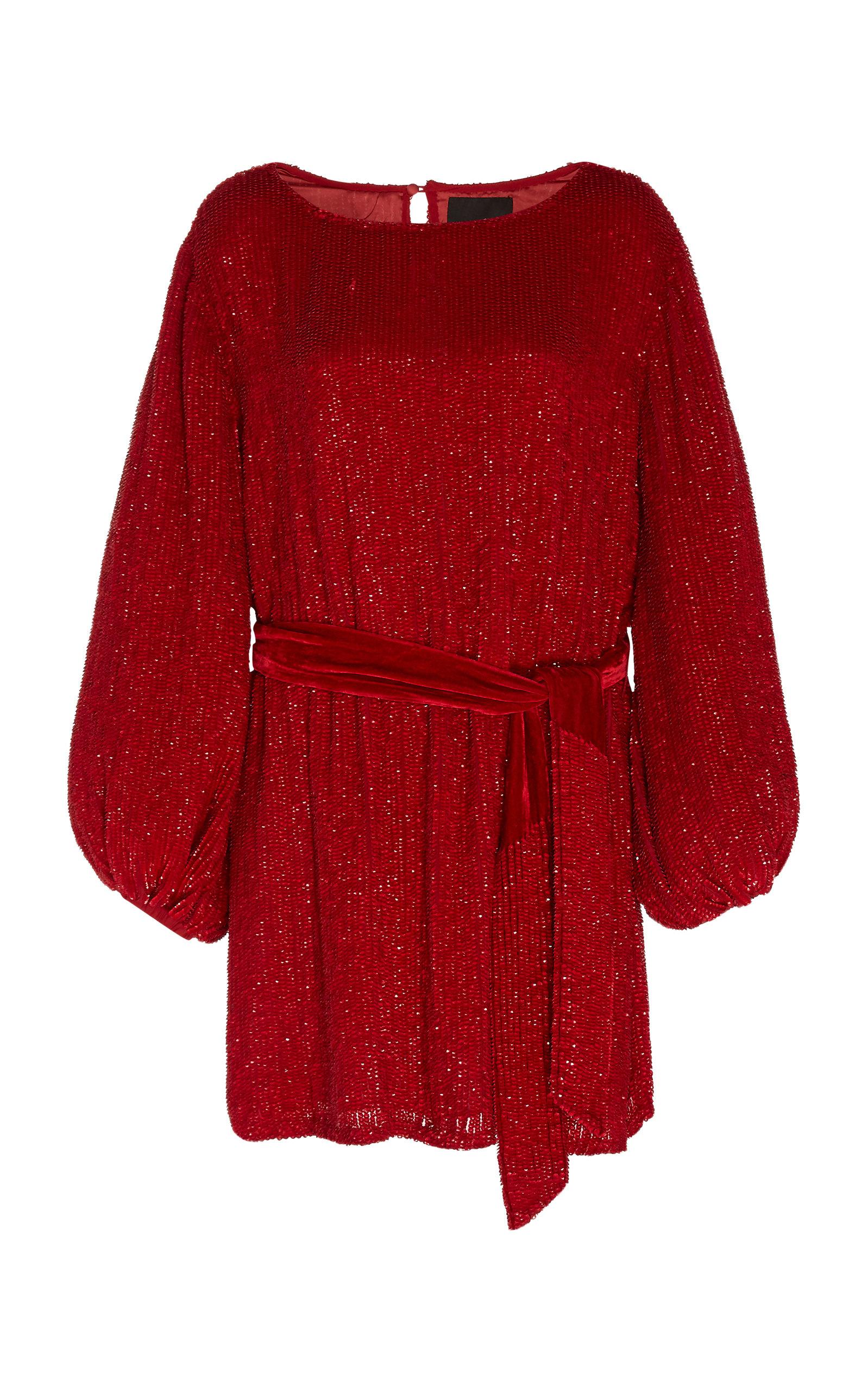 Buy Retrofête Grace Belted Sequined Dress online, shop Retrofête at the best price