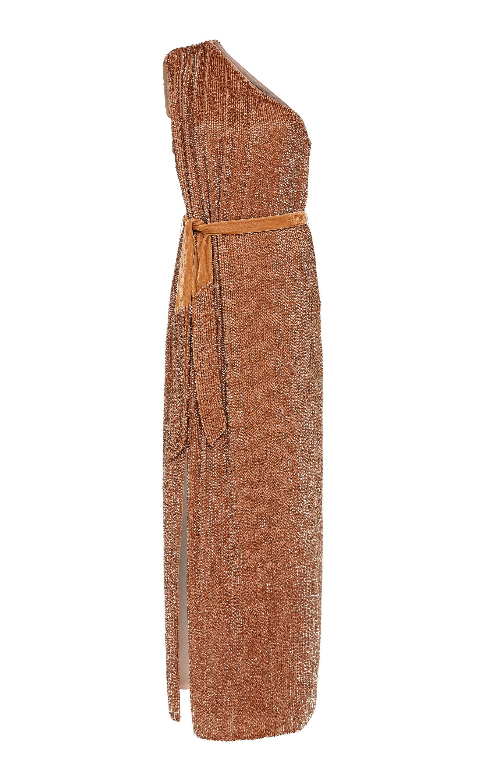 Buy Retrofête Vivien Sequin-Embellished One-Shoulder Gown online, shop Retrofête at the best price