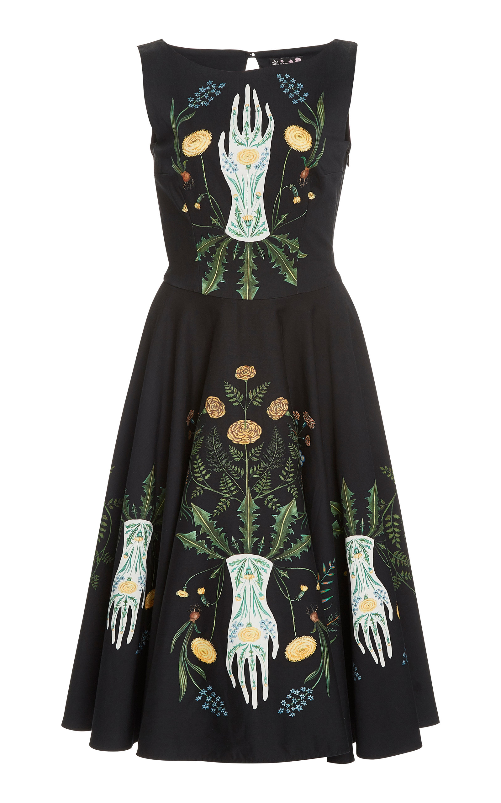 Buy Lena Hoschek White Witch Printed Cotton-Blend Midi Dress online, shop Lena Hoschek at the best price