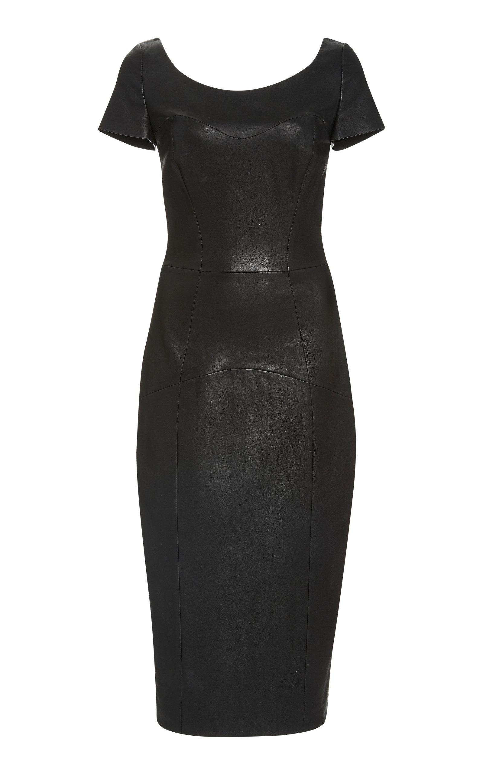 Buy Lena Hoschek Pleasure Leather Midi Dress online, shop Lena Hoschek at the best price