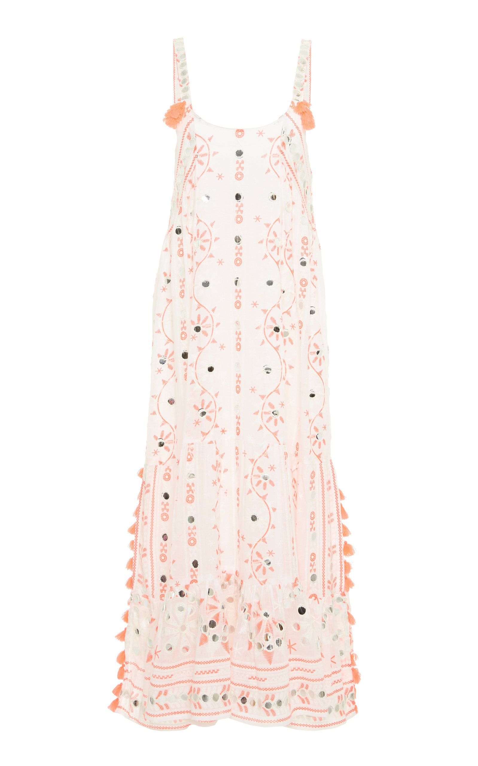 Buy Juliet Dunn Embellished Cotton Midi Dress online, shop Juliet Dunn at the best price