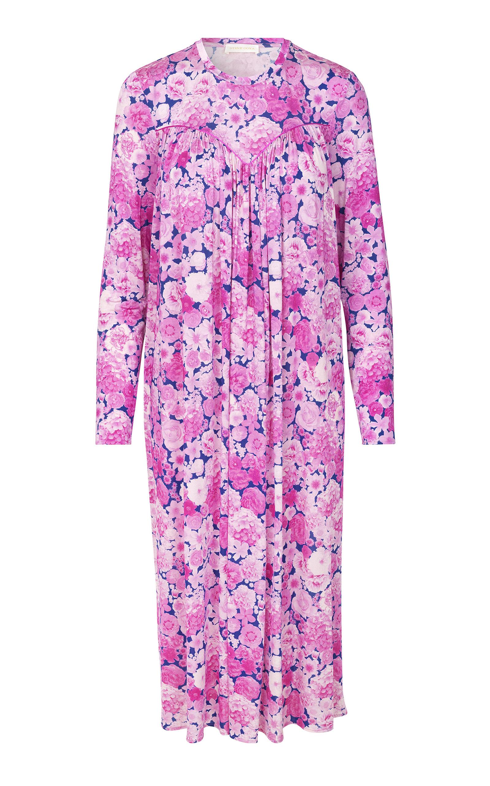 Buy Stine Goya Chloris Oversized Printed Sateen Dress online, shop Stine Goya at the best price