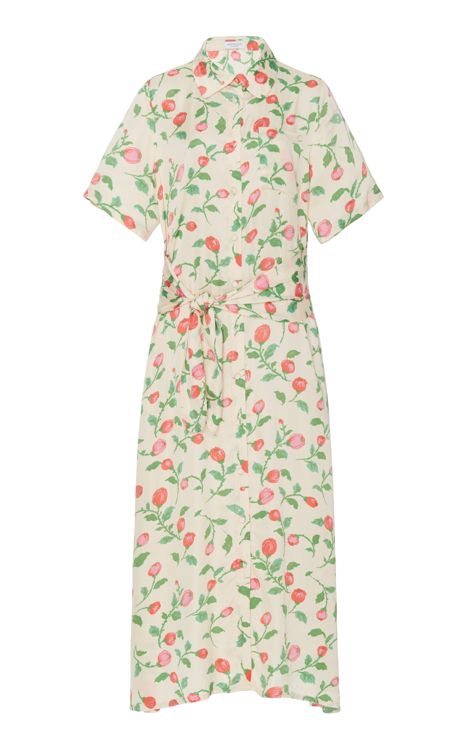 Buy HOFMANN COPENHAGEN Gabriella Printed Midi Dress online, shop HOFMANN COPENHAGEN at the best price