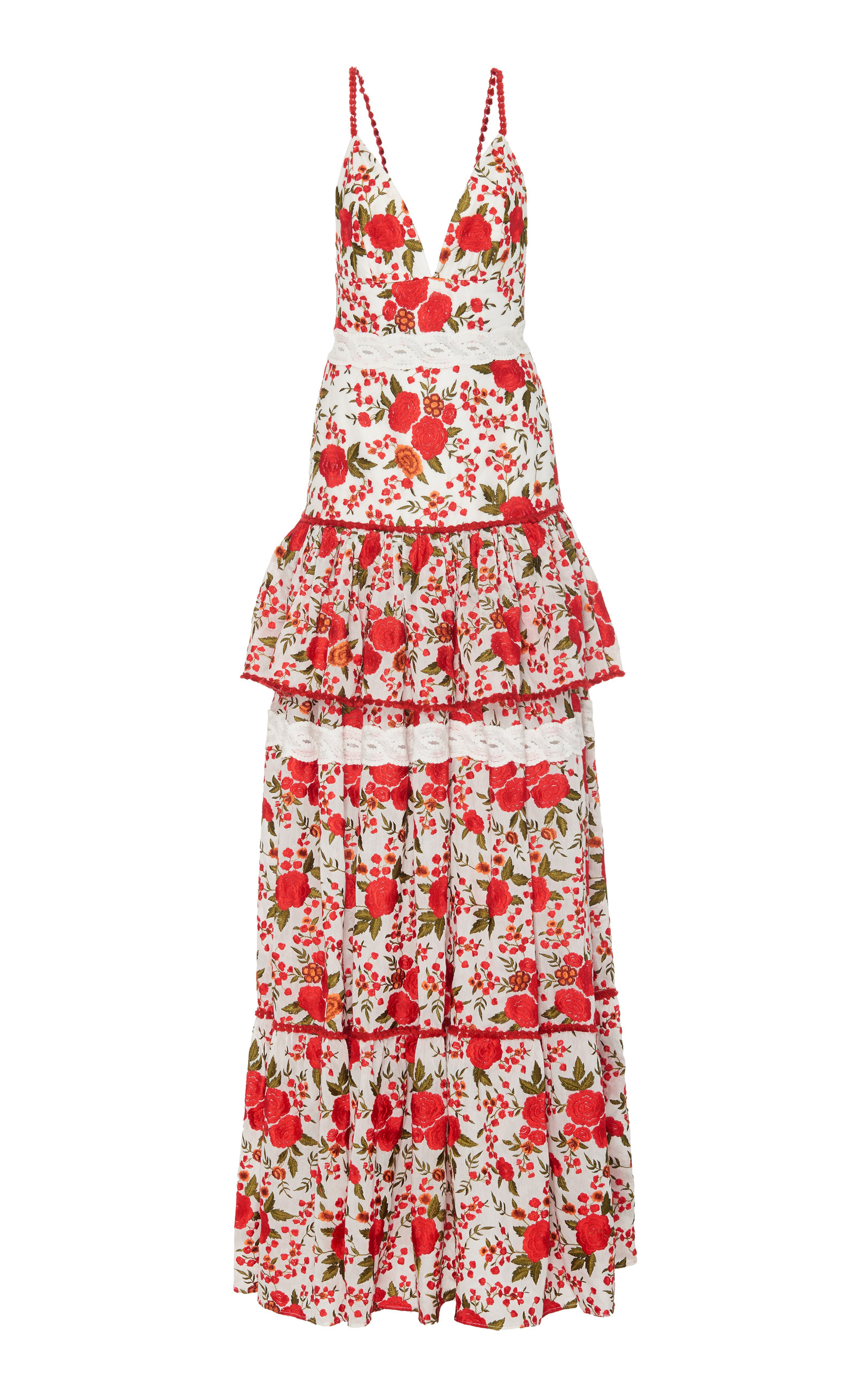Buy Alexis Cassis Tiered Floral Maxi Dress online, shop Alexis at the best price