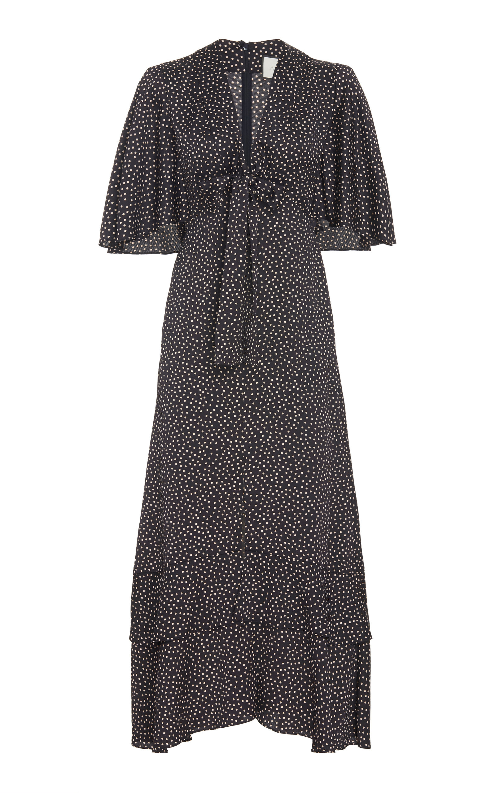 Buy Alexis Kasany Polka-Dot Tie-Front Midi Dress online, shop Alexis at the best price
