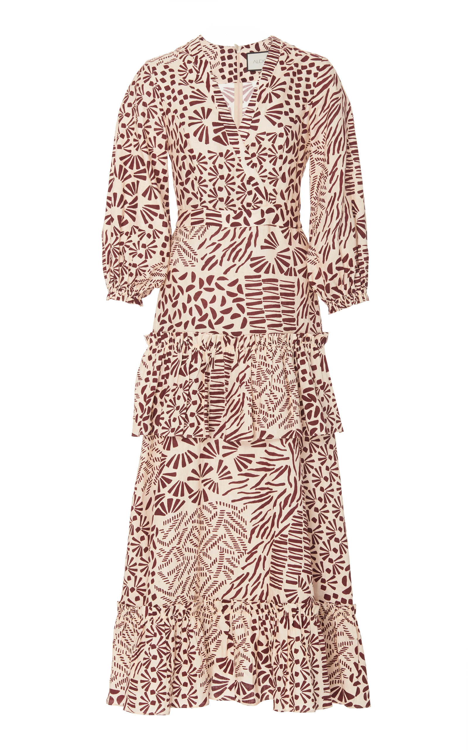 Buy Alexis Tereasa Leaf-Print Cotton Midi Dress online, shop Alexis at the best price