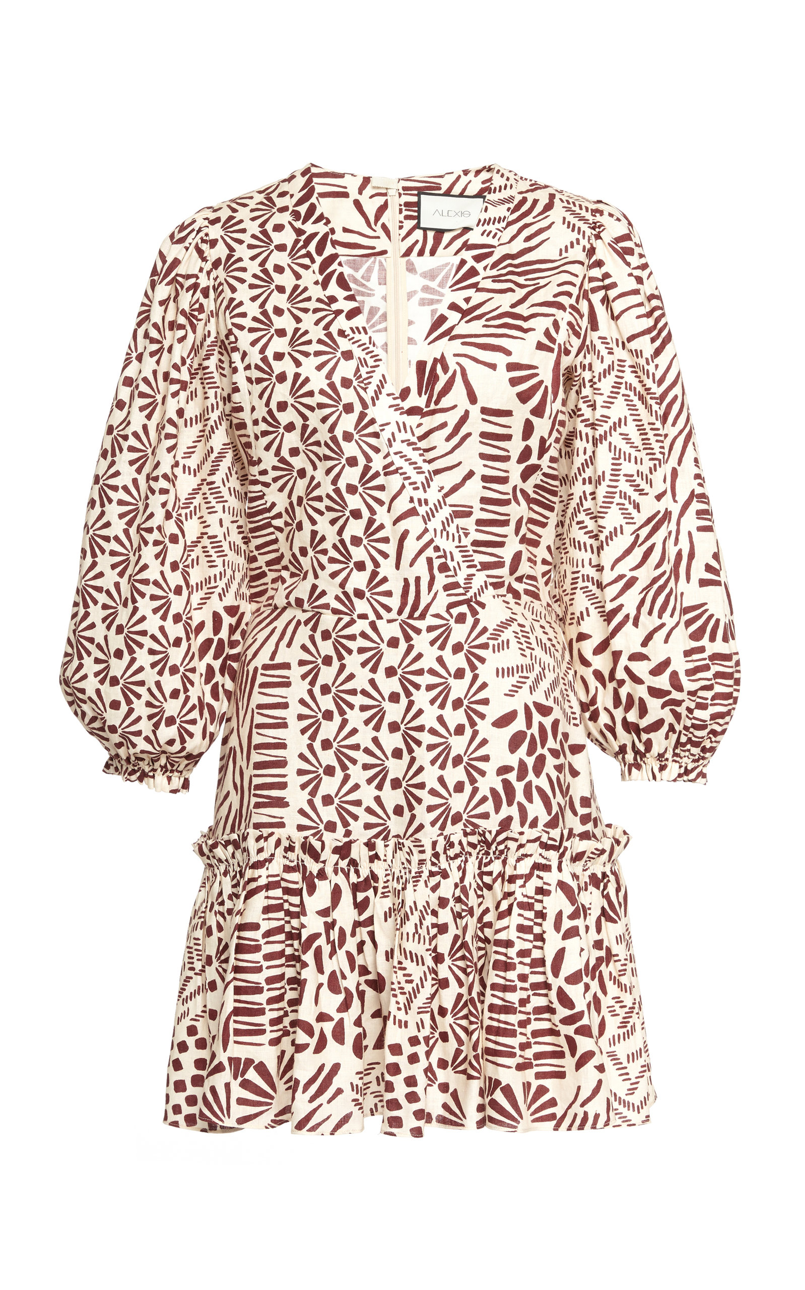 Buy Alexis Idony Cotton Printed Mini Dress online, shop Alexis at the best price