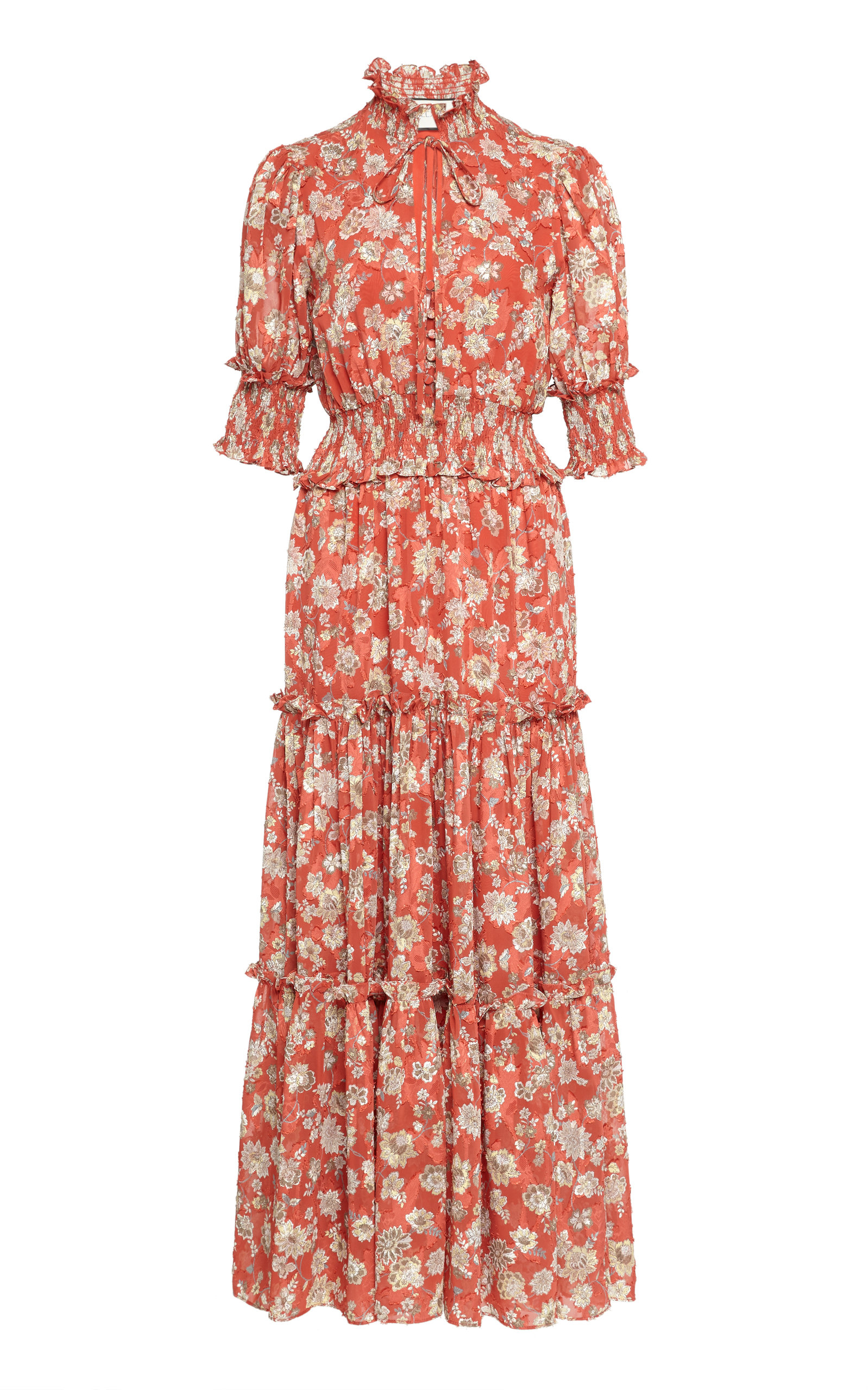Buy Alexis Isarra Smocked Midi Dress online, shop Alexis at the best price