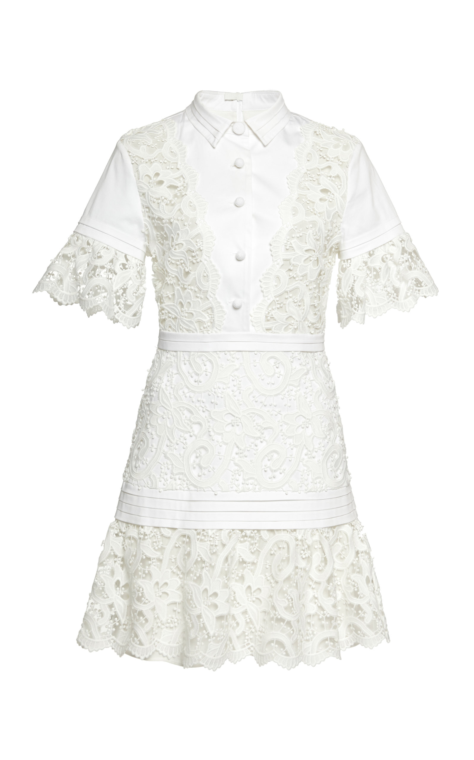Buy Alexis Liberty Guipure-Lace-Paneled Mini Dress online, shop Alexis at the best price