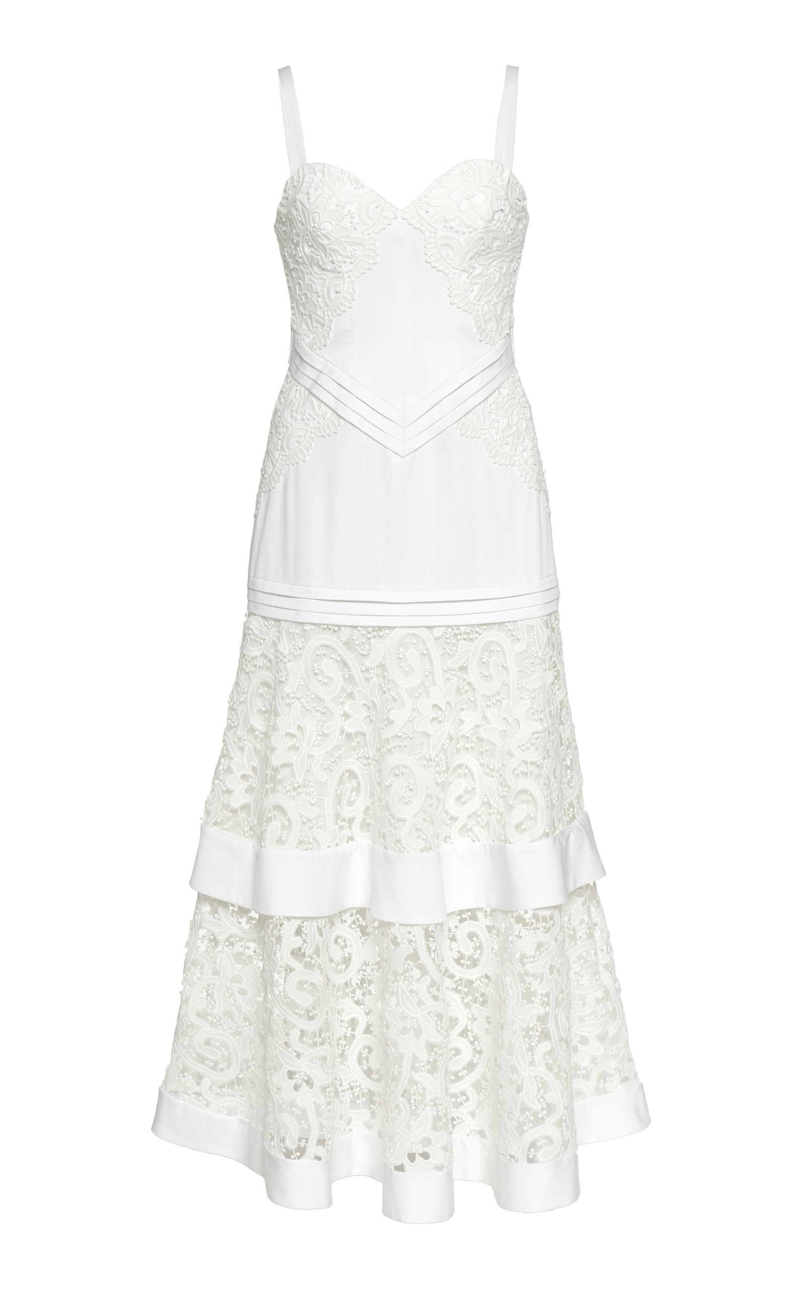 Buy Alexis Harlowe Sweetheart Midi Lace Dress online, shop Alexis at the best price