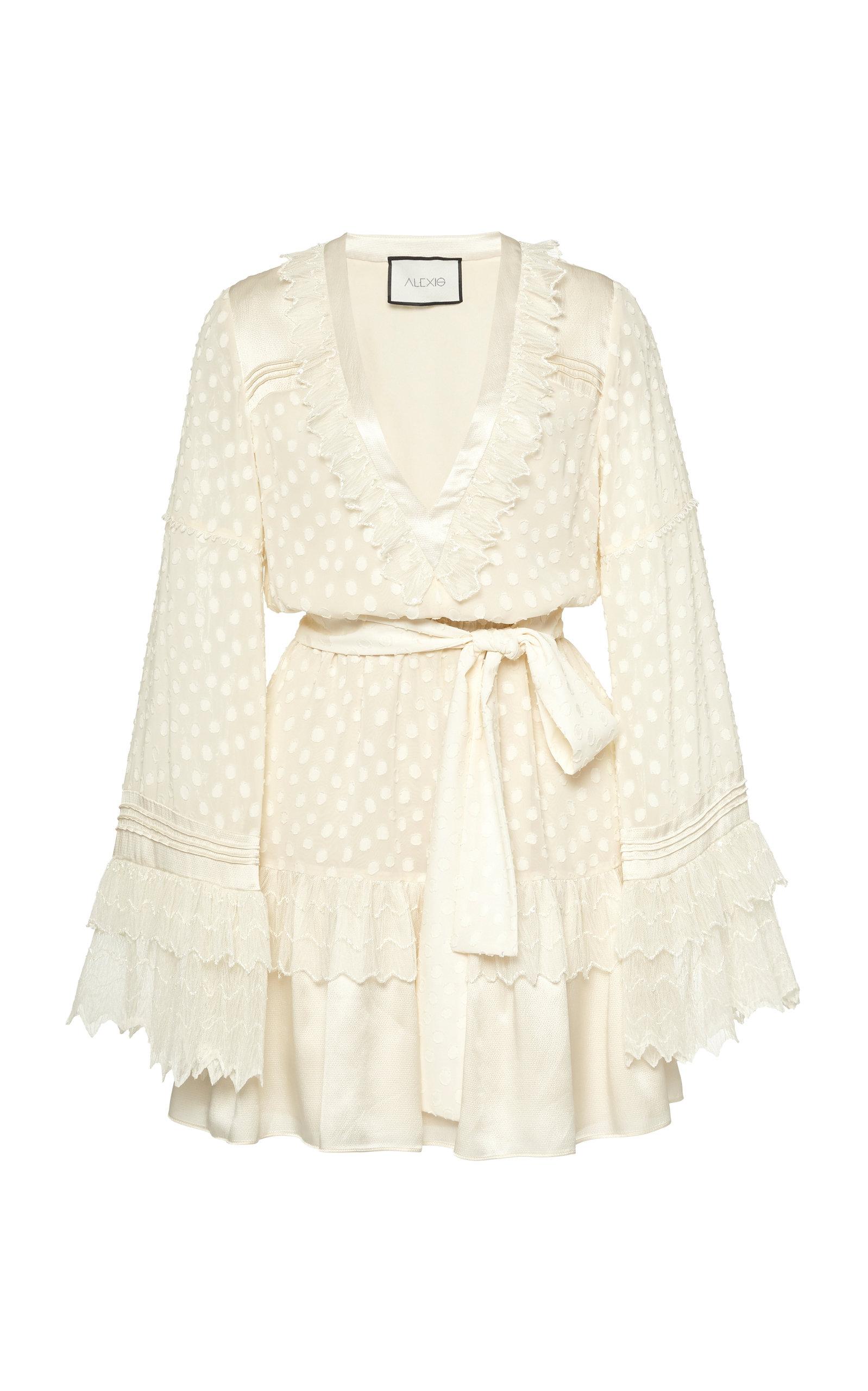 Buy Alexis Katerina Cotton Fil Coupé Mini Dress online, shop Alexis at the best price