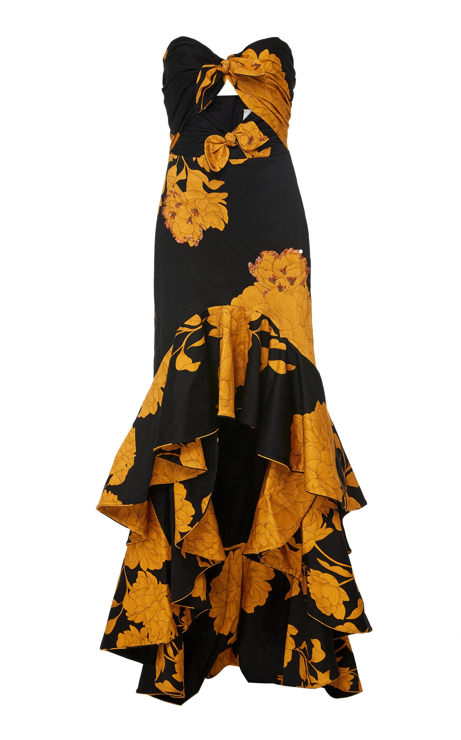 Buy Johanna Ortiz Exclusive Path Of Rose Ruffled Cotton-Blend Dress online, shop Johanna Ortiz at the best price