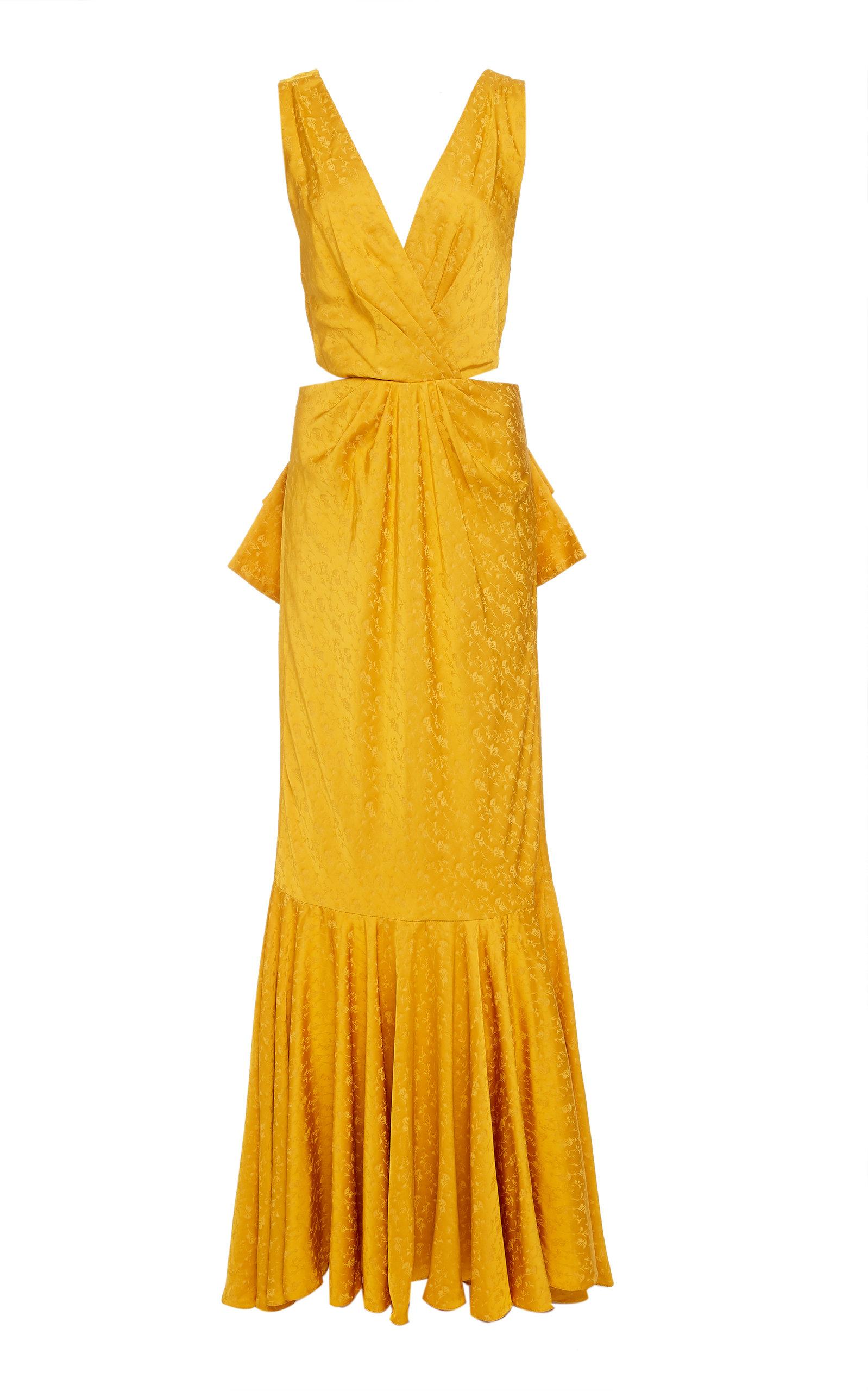 Buy Johanna Ortiz Exclusive Silky Breeze Jacquard Gown online, shop Johanna Ortiz at the best price
