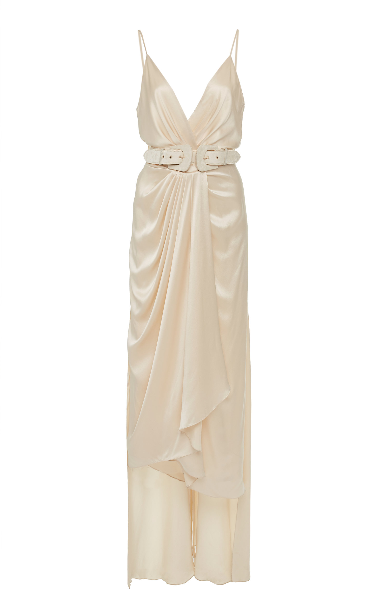 Buy Johanna Ortiz Exclusive Let's Meet At The Cabaret Belted Silk Gown online, shop Johanna Ortiz at the best price