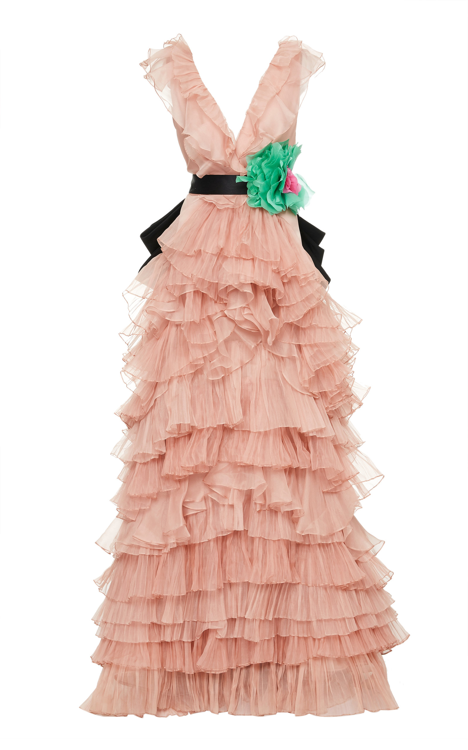 Buy Johanna Ortiz Exclusive Subliminal Art Tiered Silk Gown online, shop Johanna Ortiz at the best price