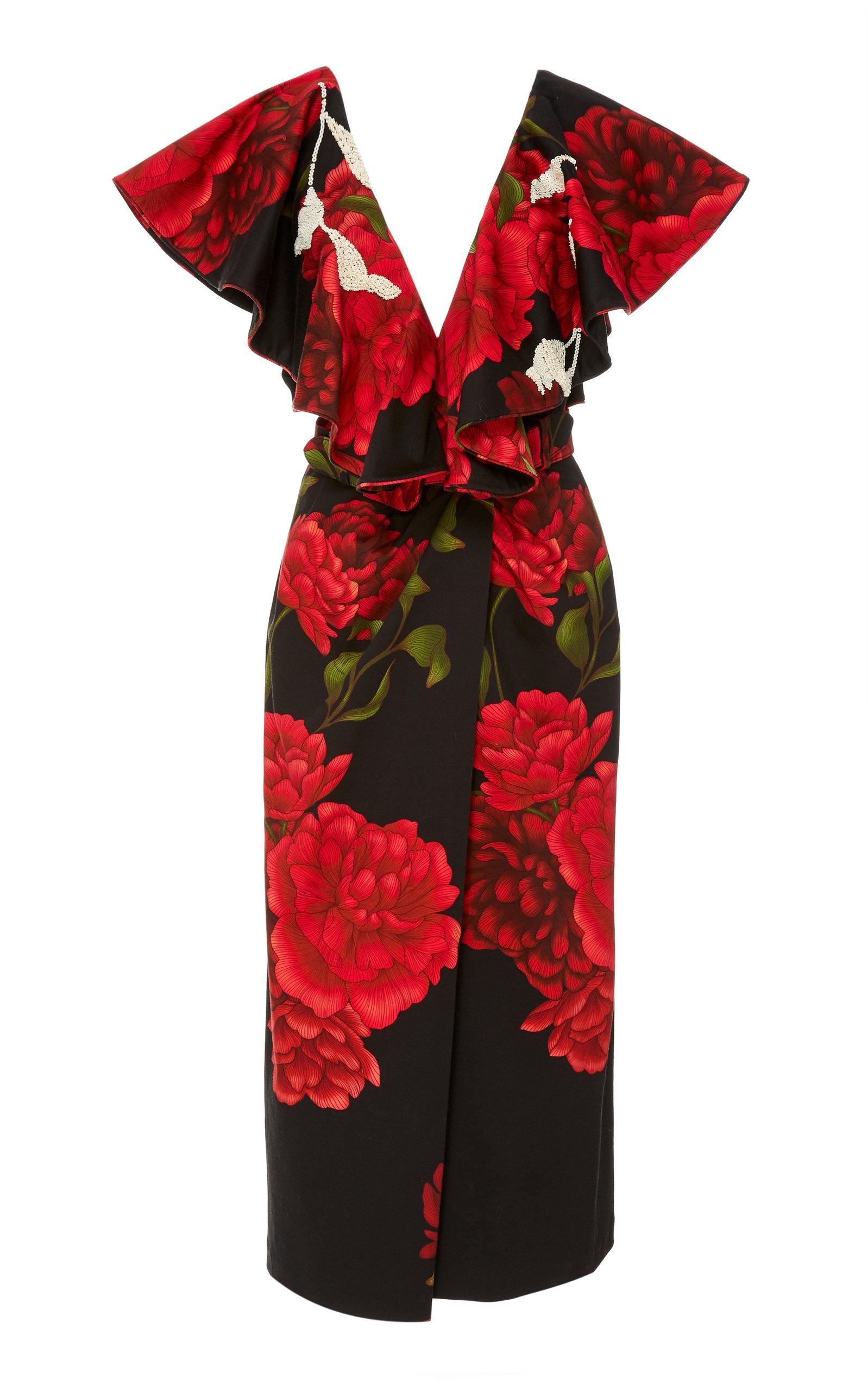 Buy Johanna Ortiz Exclusive Aestheticism Embellished Belted Dress online, shop Johanna Ortiz at the best price