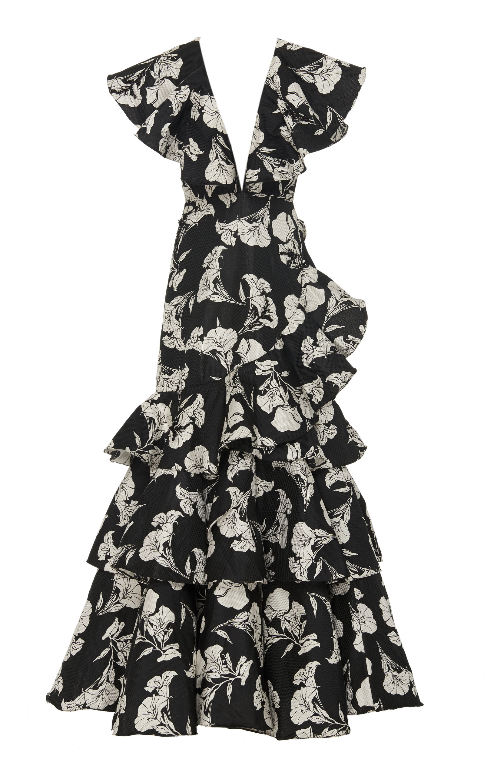 Buy Johanna Ortiz Exclusive Exquisite Pattern Embellished Gown online, shop Johanna Ortiz at the best price