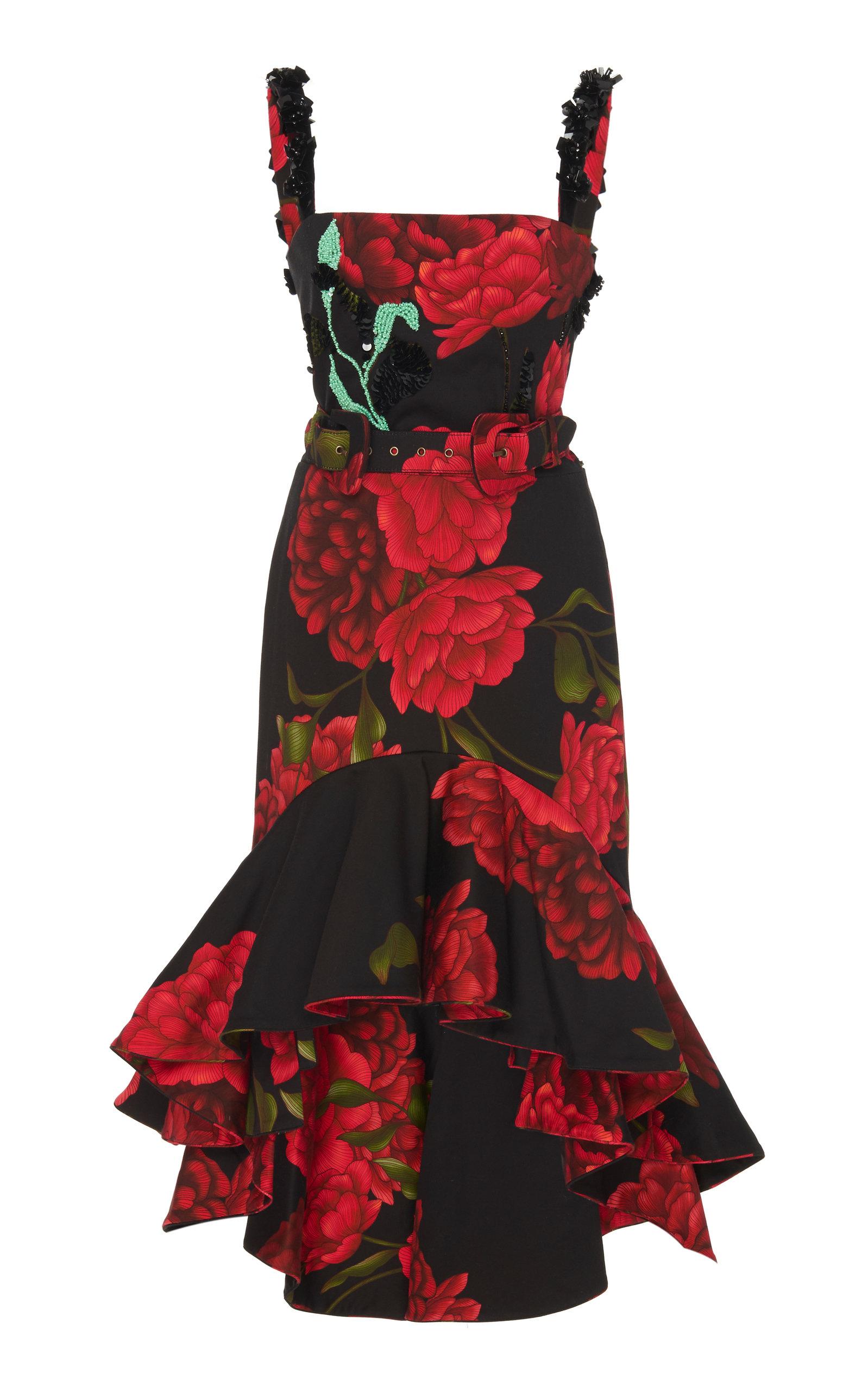 Buy Johanna Ortiz Exclusive Floriated Embellished Belted Dress online, shop Johanna Ortiz at the best price