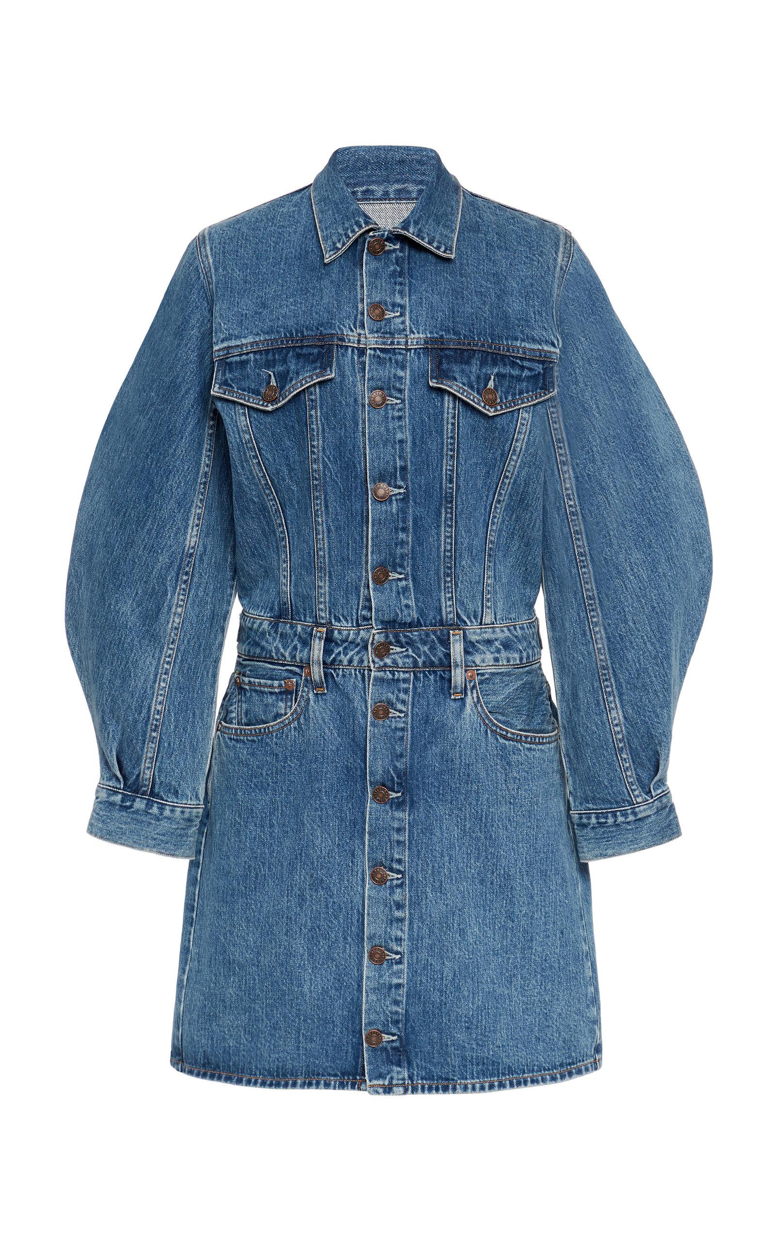 Buy Agolde Denim Mini Dress online, shop Agolde at the best price