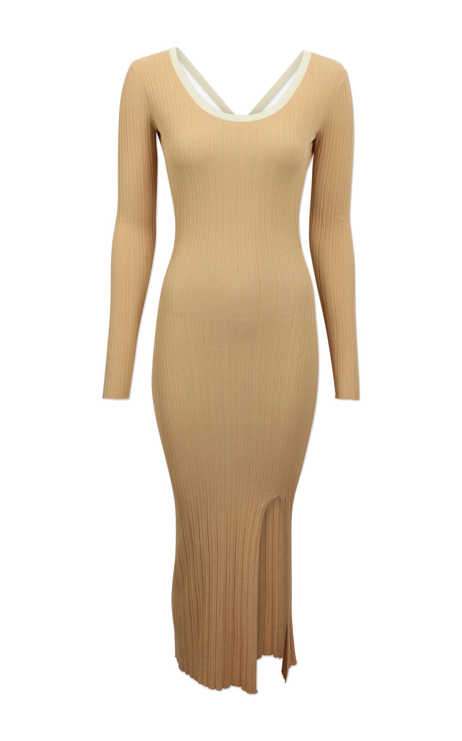 Buy Baum und Pferdgarten Chenoa Knitted Cross Back Midi Dress online, shop Baum und Pferdgarten at the best price