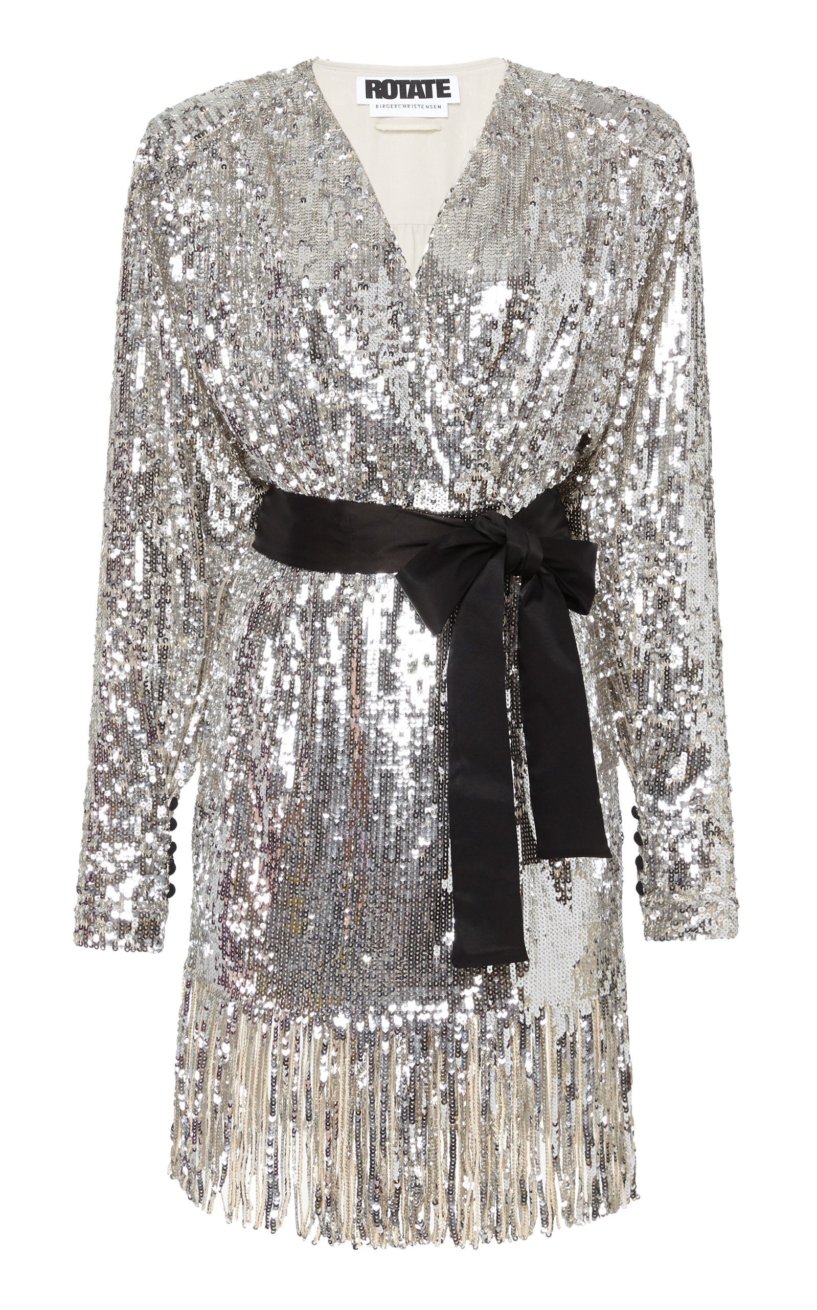 Buy ROTATE Samantha Sequined Fringe Dress online, shop ROTATE at the best price