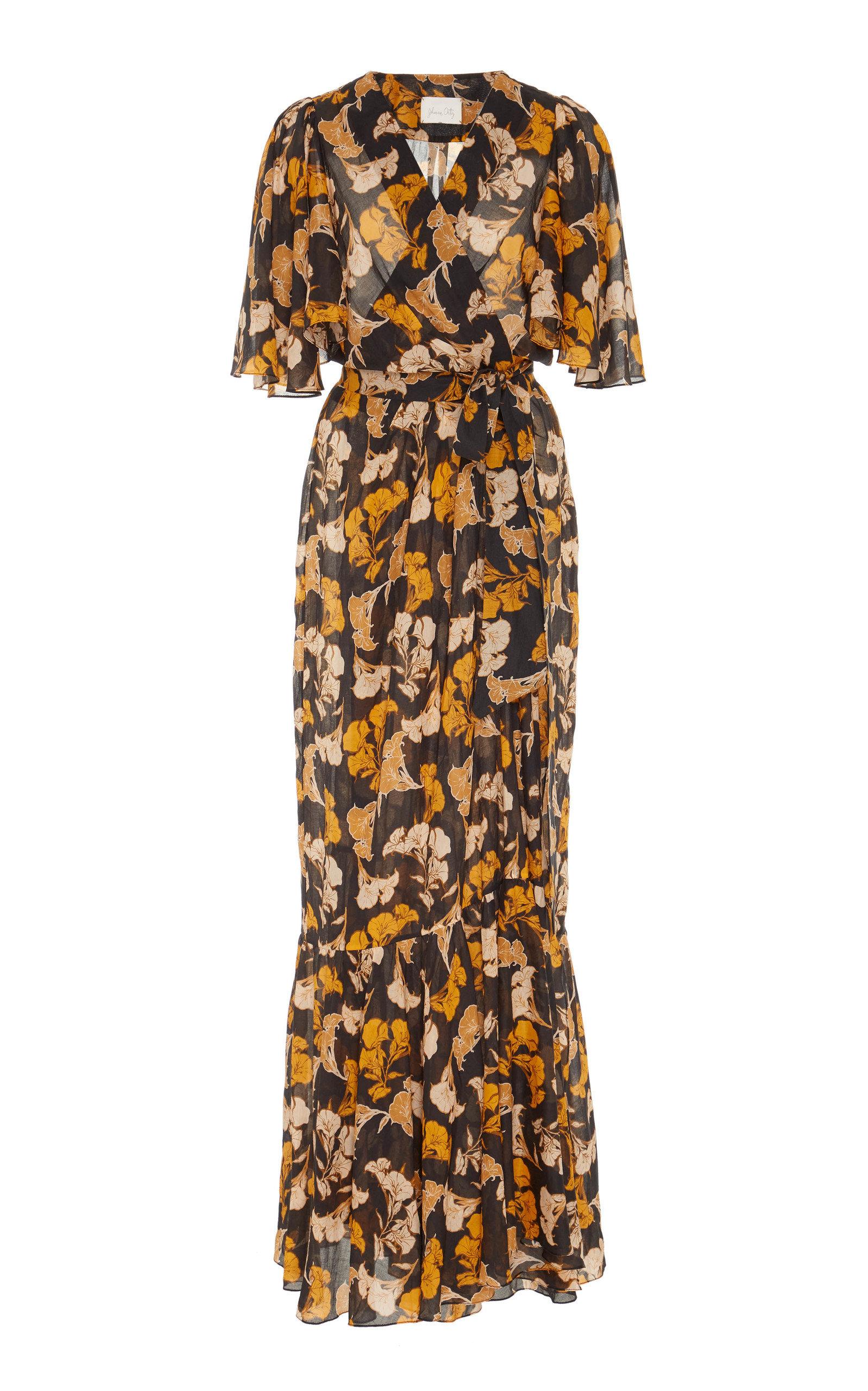 Buy Johanna Ortiz Gypset Life Floral-Print Cotton Midi Dress online, shop Johanna Ortiz at the best price