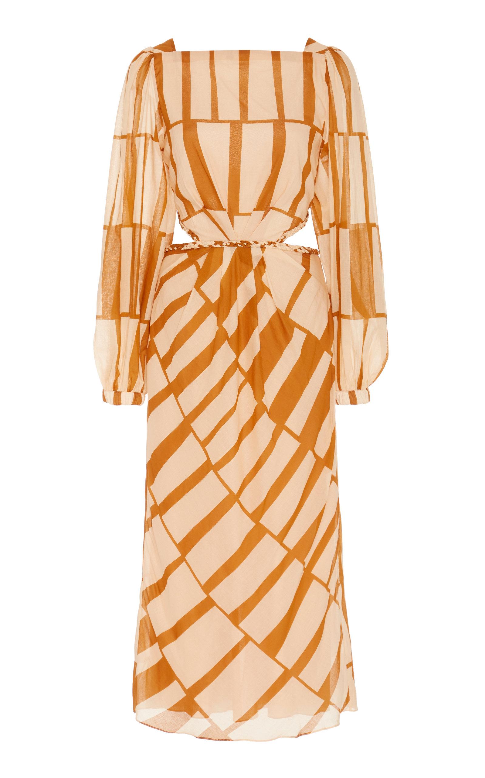 Buy Johanna Ortiz Illusion Of Time Cotton Cutout Midi Dress online, shop Johanna Ortiz at the best price