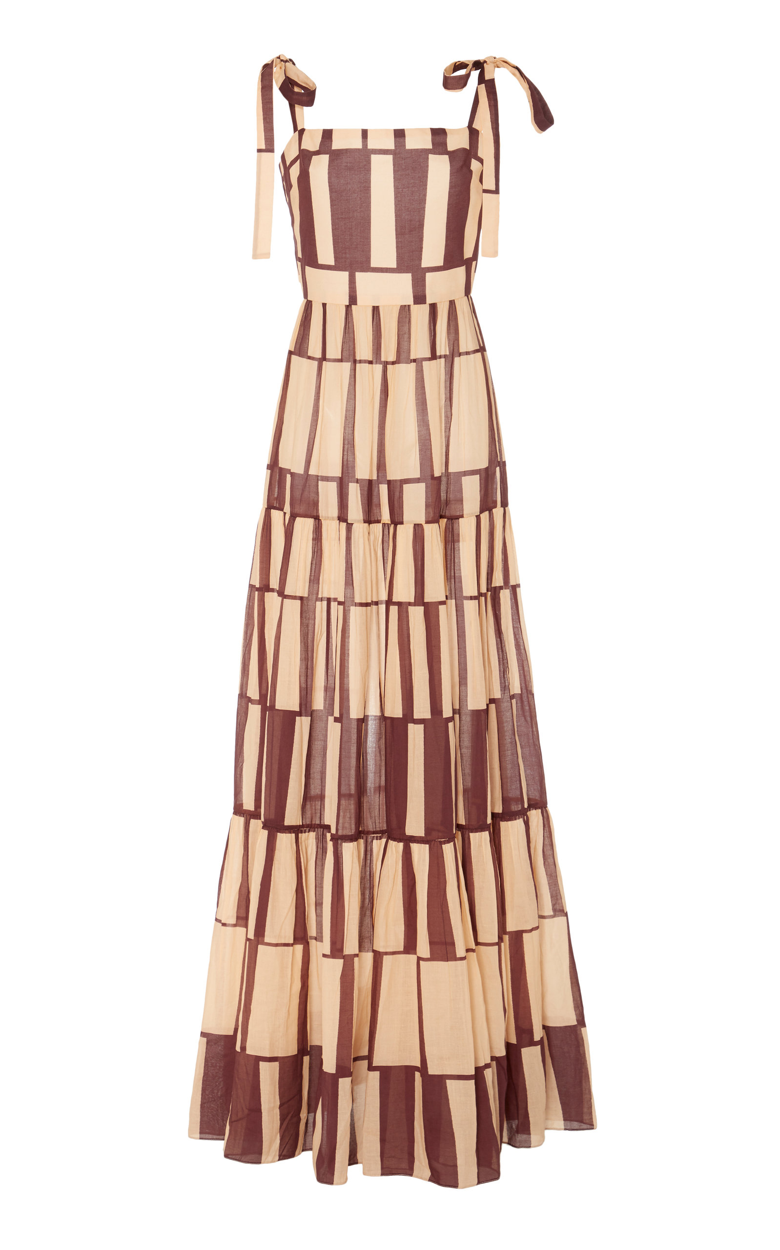 Buy Johanna Ortiz Waterfront Printed Cotton Maxi Dress online, shop Johanna Ortiz at the best price