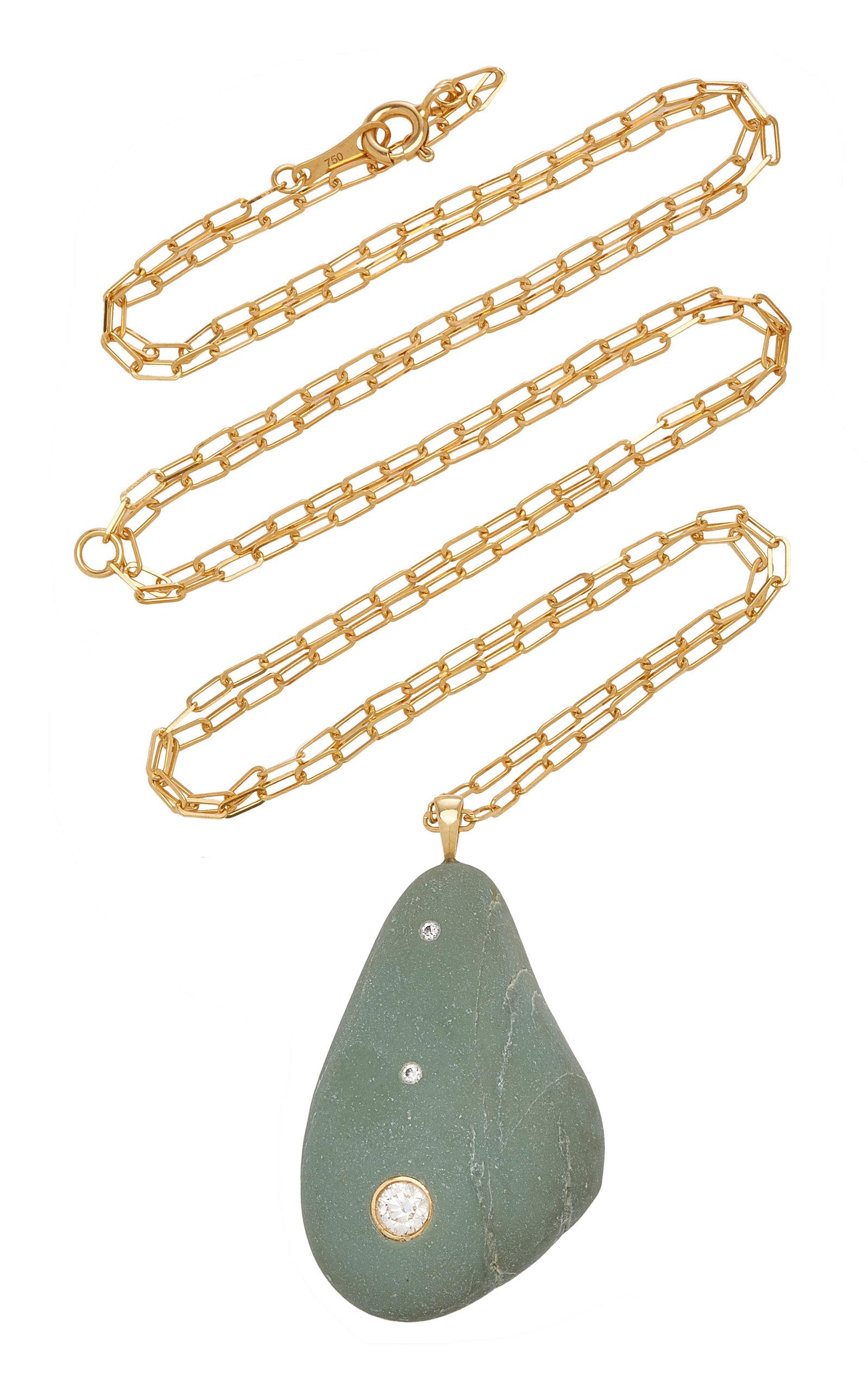 Women's Bohemia 18K Gold; Diamond And Stone Necklace
