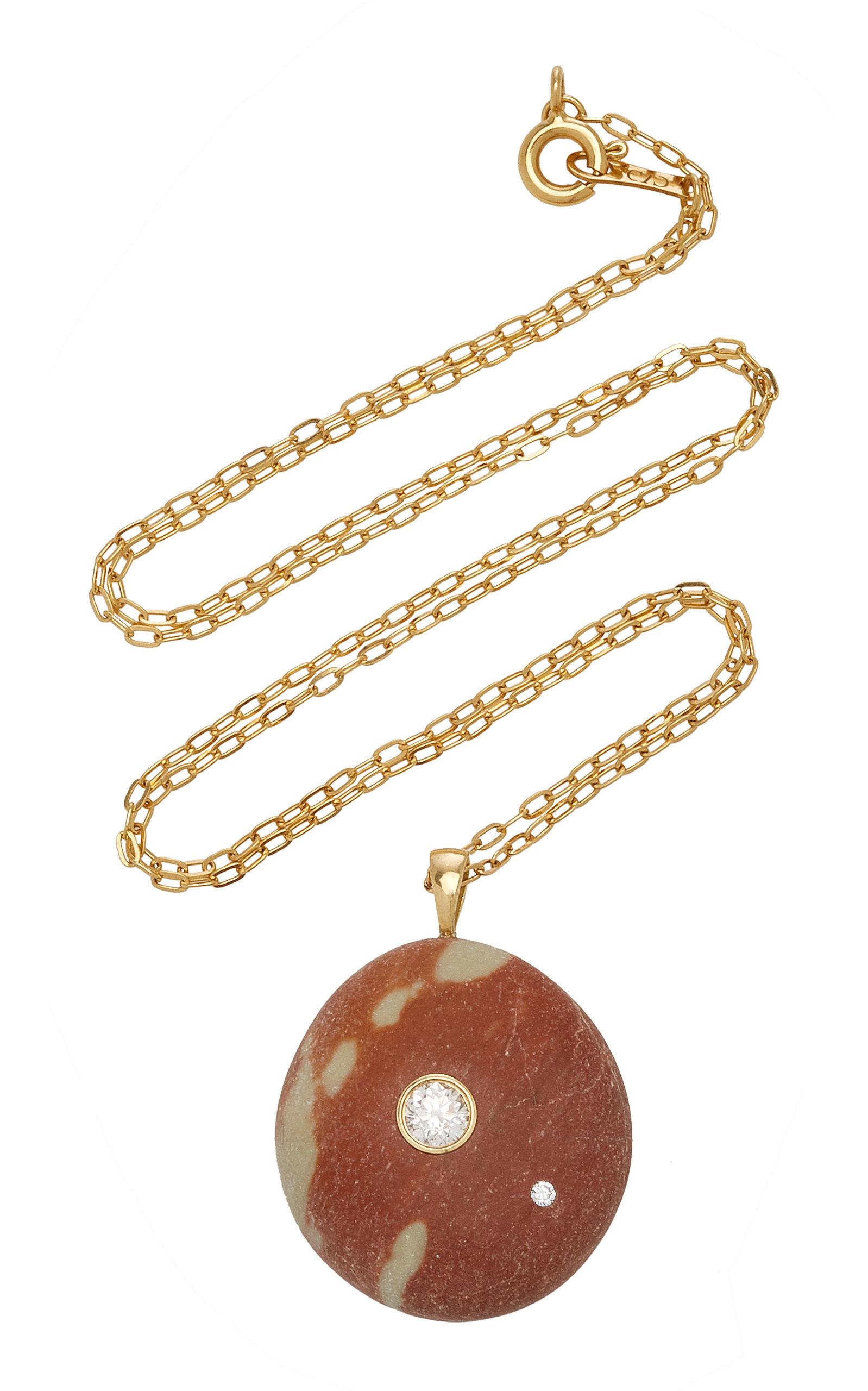 Women's Rosalina 18K Gold; Diamond And Stone Necklace