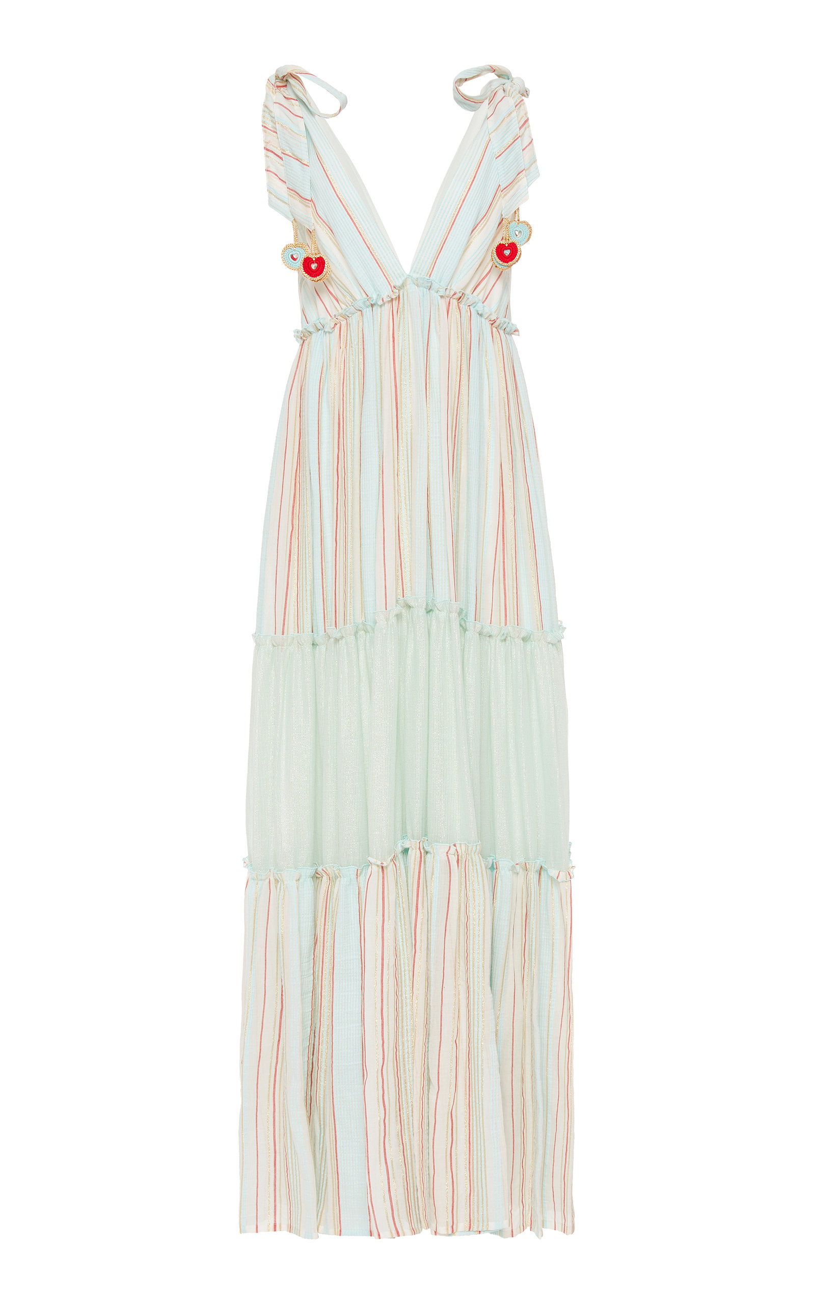 Buy MY BEACHY SIDE Tiered Striped Cotton Maxi Dress online, shop MY BEACHY SIDE at the best price