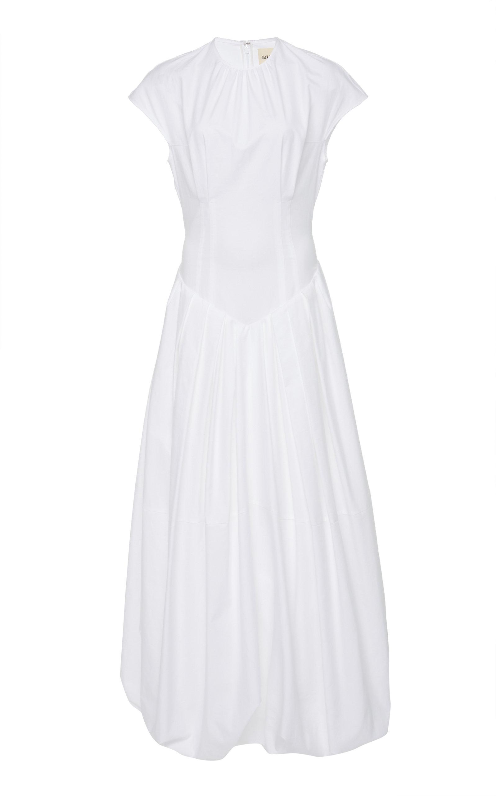Buy Khaite Rita Corseted Bubble Cotton Maxi Dress online, shop Khaite at the best price